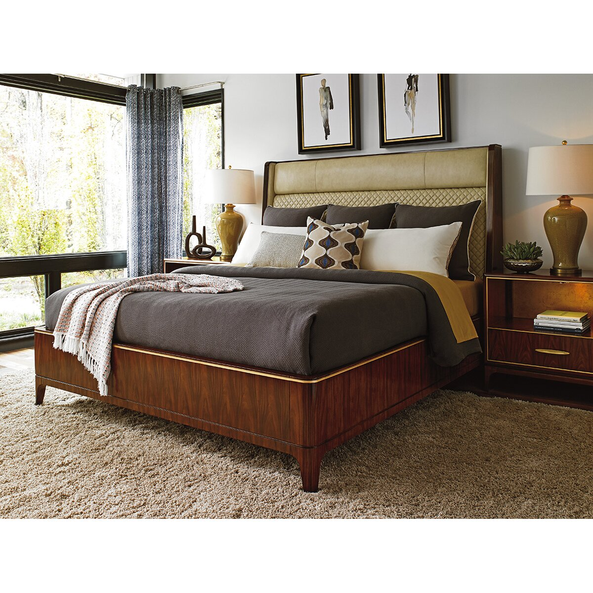 take five empire upholstered platform customizable bedroom set by