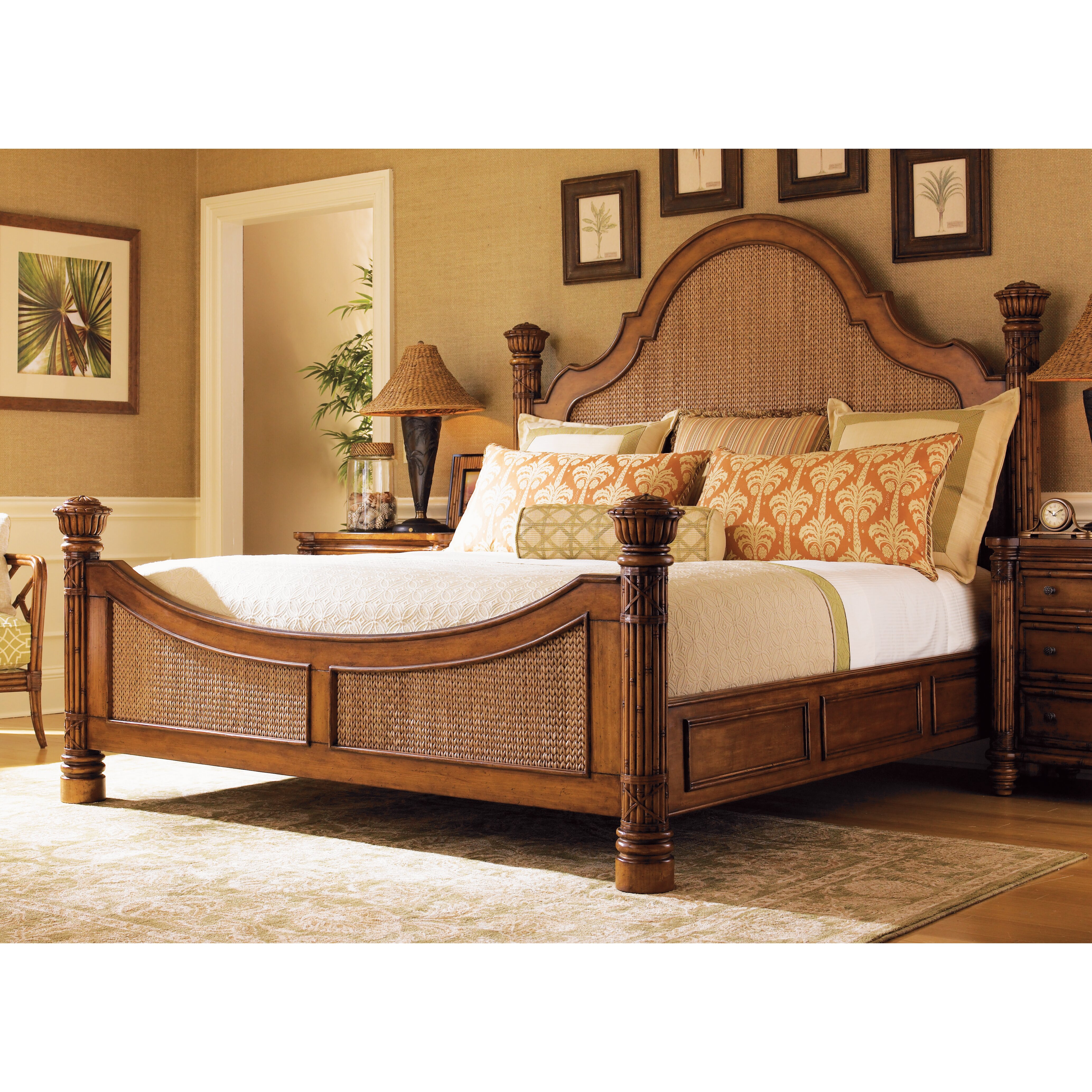 tommy bahama home island estates panel bed reviews wayfair