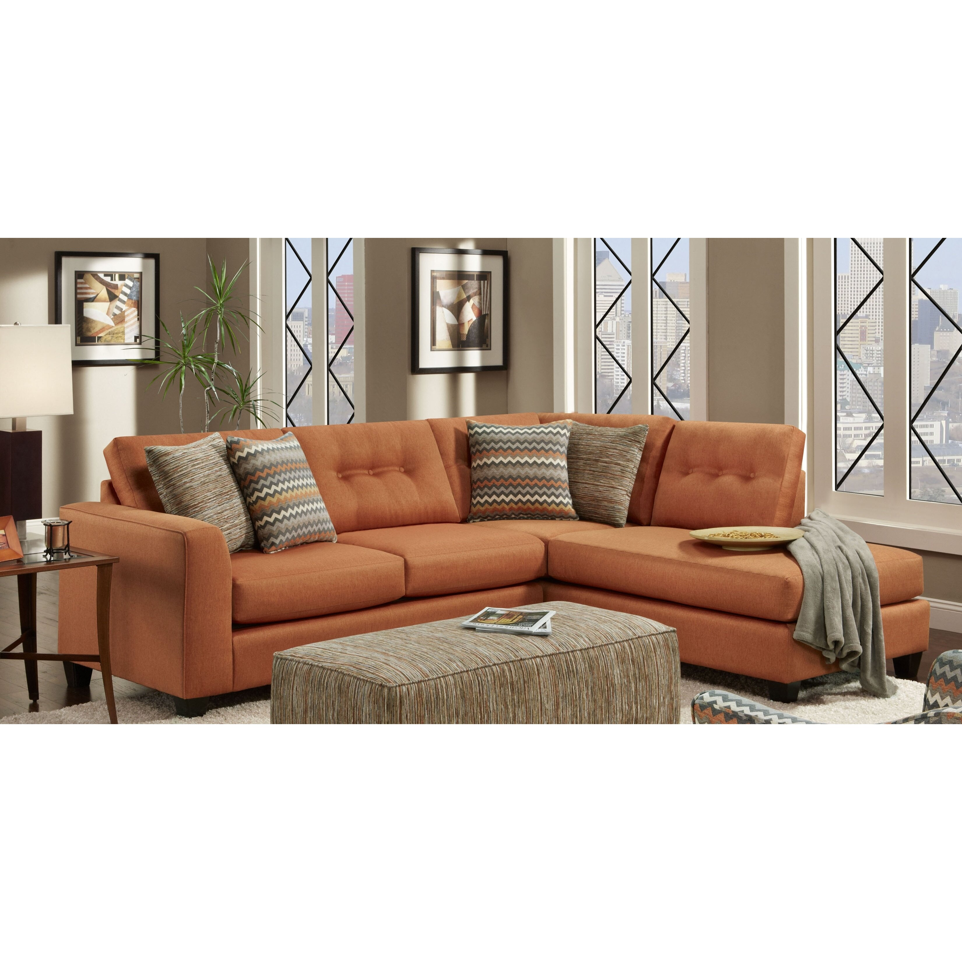 Chelsea Home Phoenix Reversible Chaise Sectional Reviews Wayfair