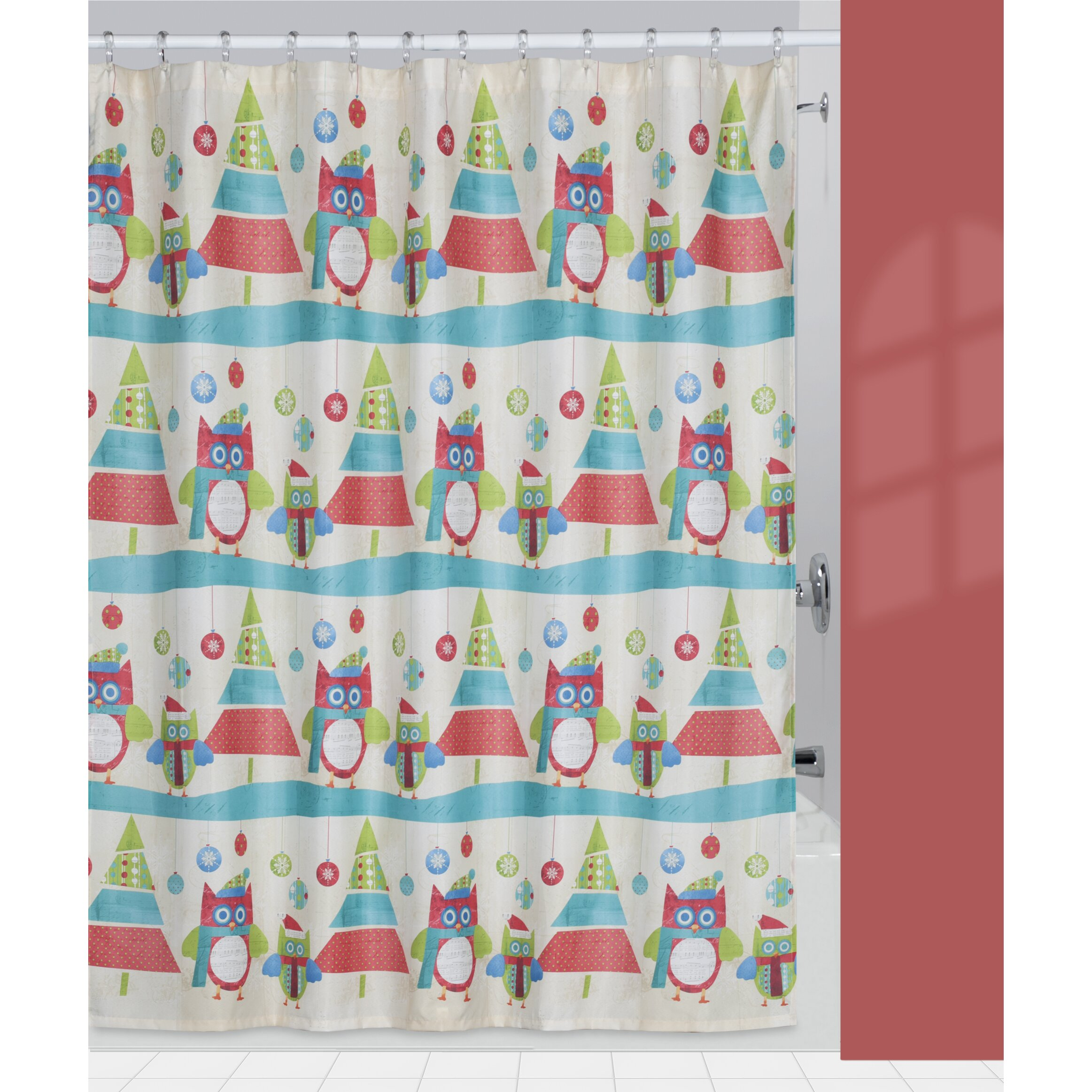 creative bath holiday owls shower curtain reviews wayfair