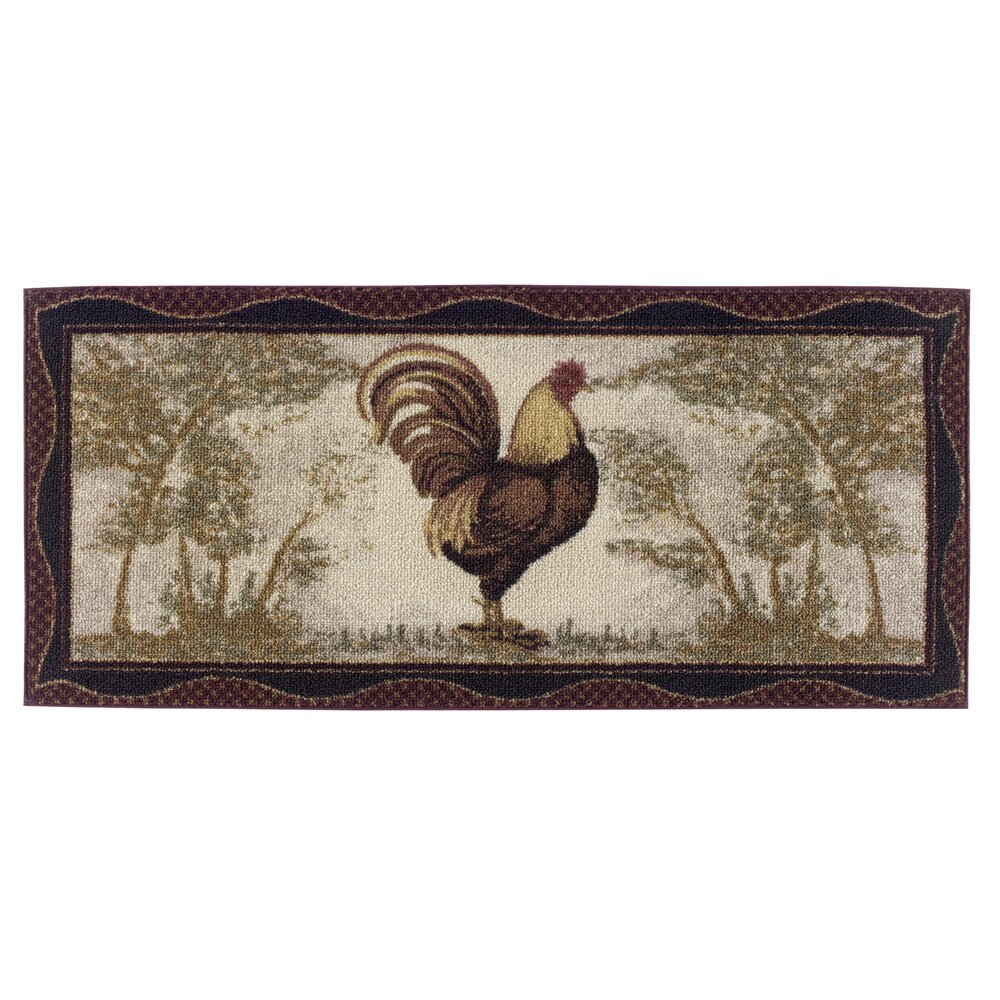 Brumlow Mills Rooster Novelty Kitchen Rug & Reviews
