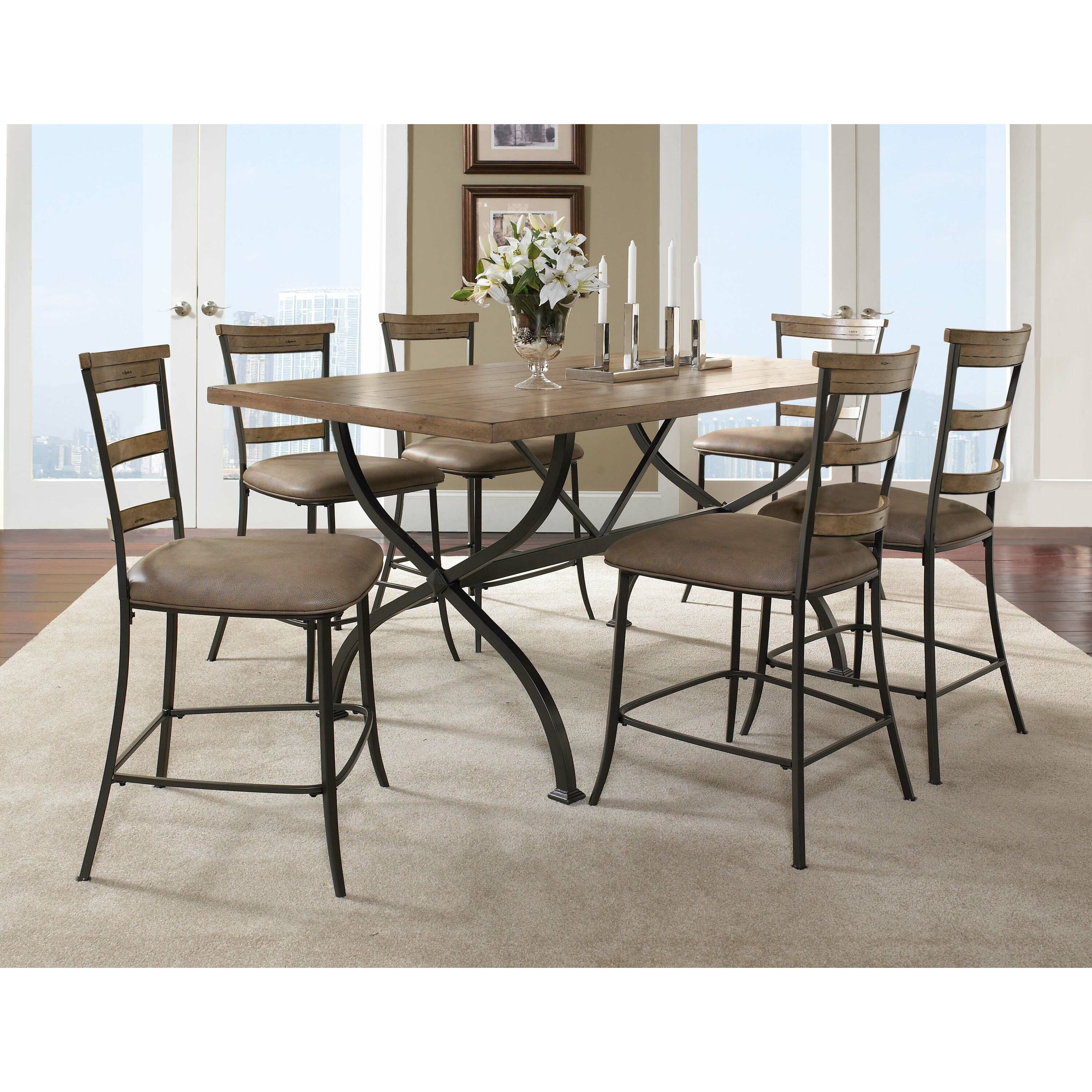 Fe 7Piece CounterHeight Dining Set Dining Table Sets at ...
