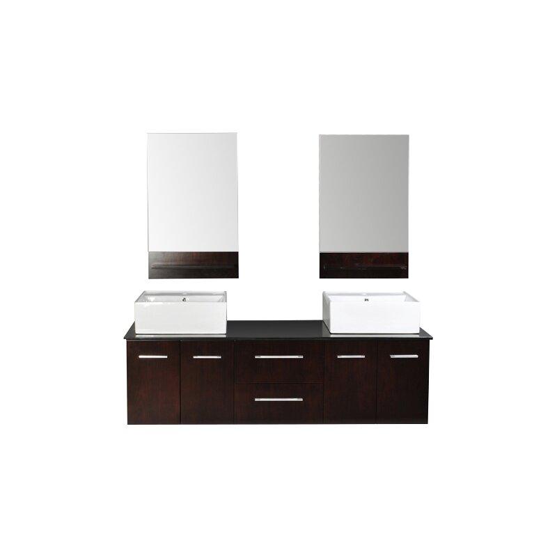 Belmont Decor Skyline 72 Double Bathroom Vanity Set With Mirror Reviews Wayfair