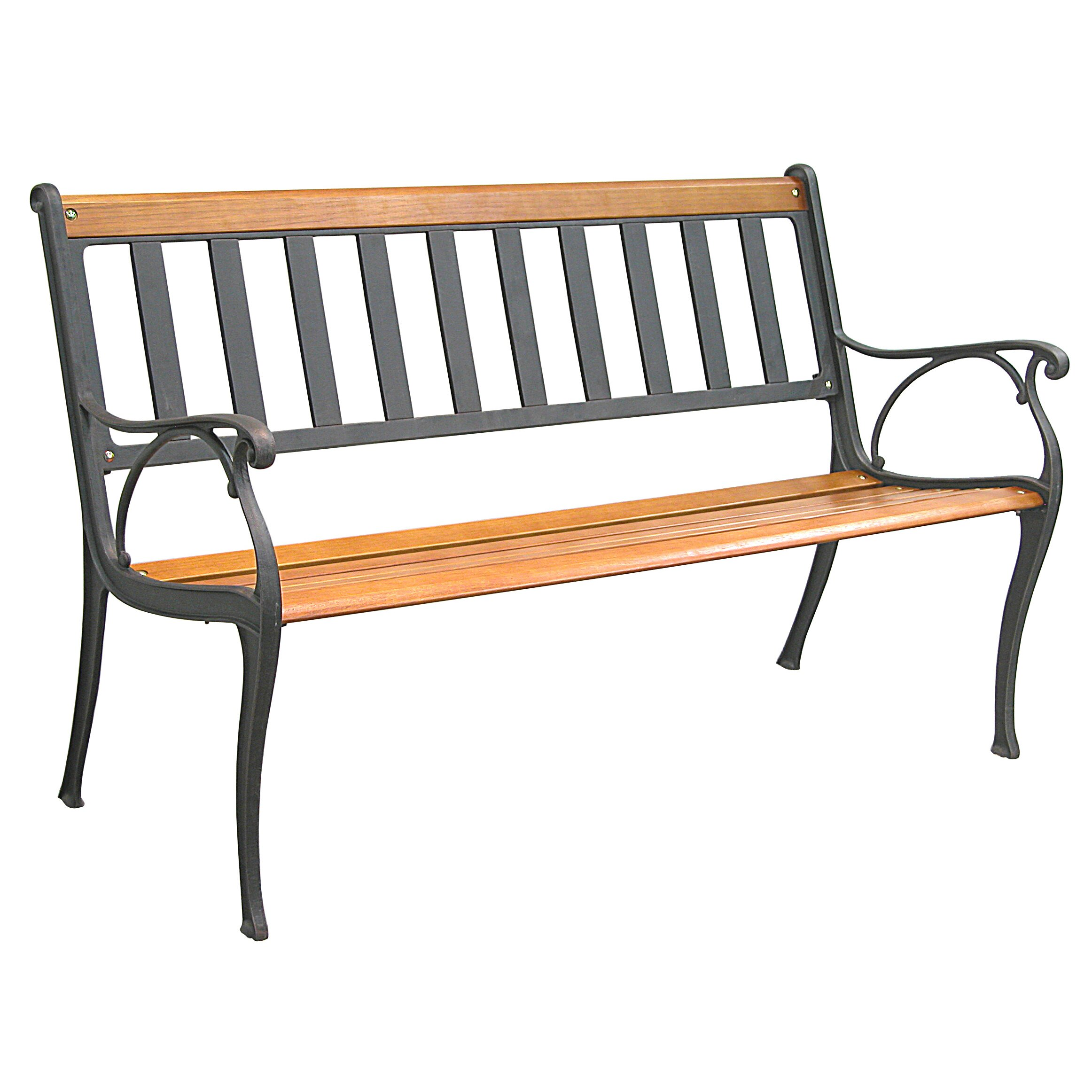Innova Hearth And Home Mission Cast Iron Park Bench Reviews Wayfair