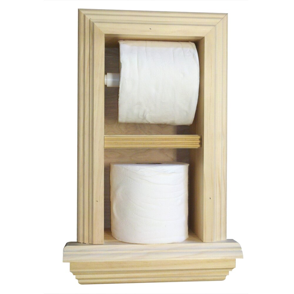 Wg Wood Products Recessed Toilet Paper Holder Amp Reviews