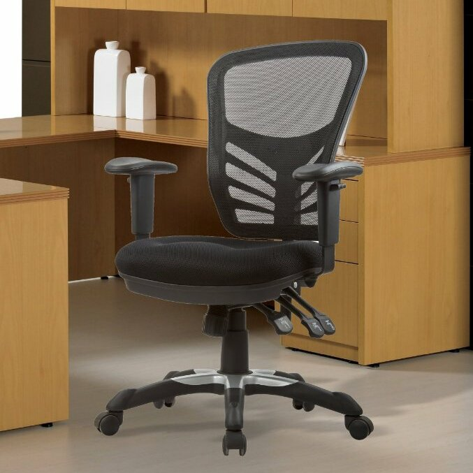 Back Mesh Conference Chair With Adjustable Height By Manhattan Comfort