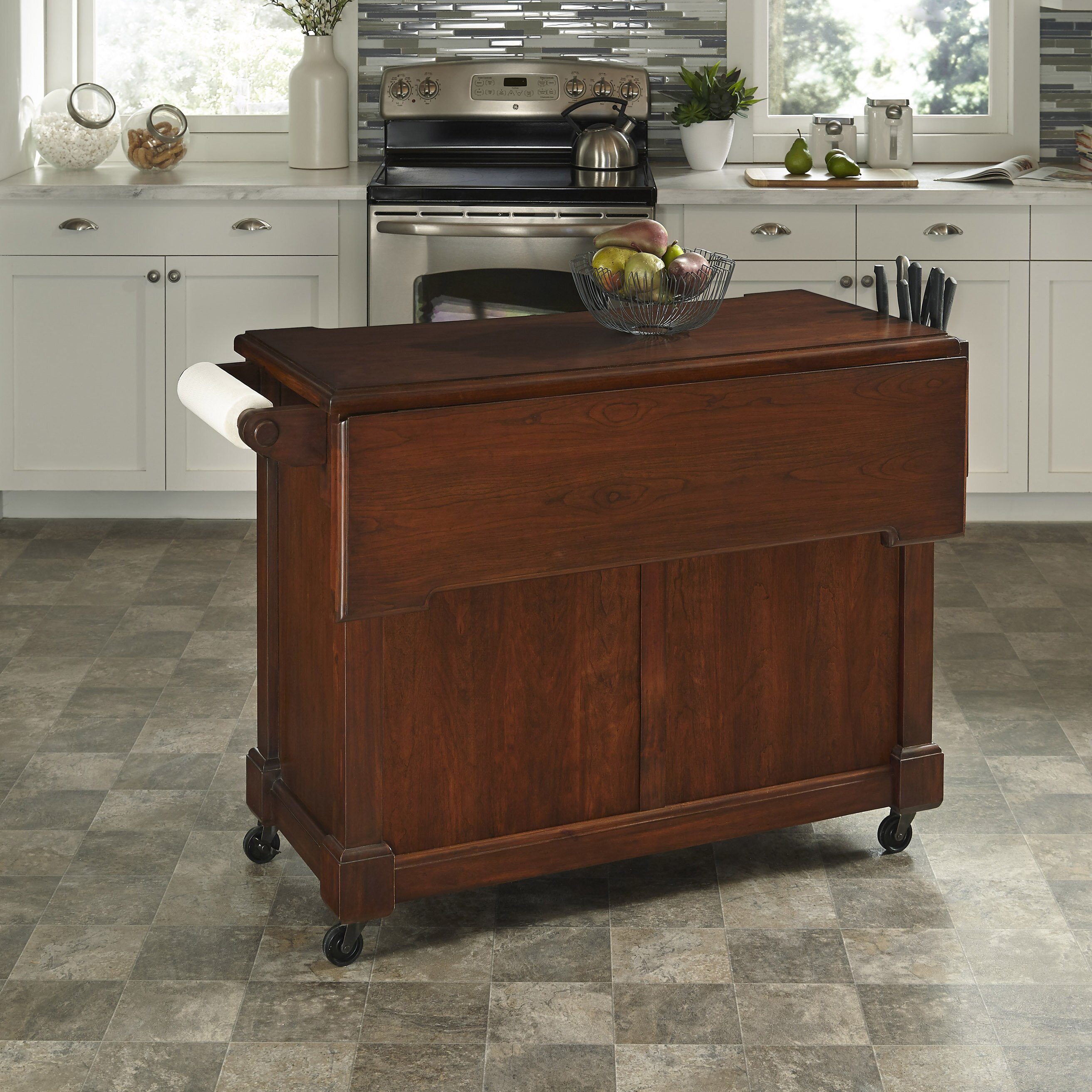 home styles aspen kitchen island amp reviews wayfair home styles aspen kitchen island w hidden drop leaf