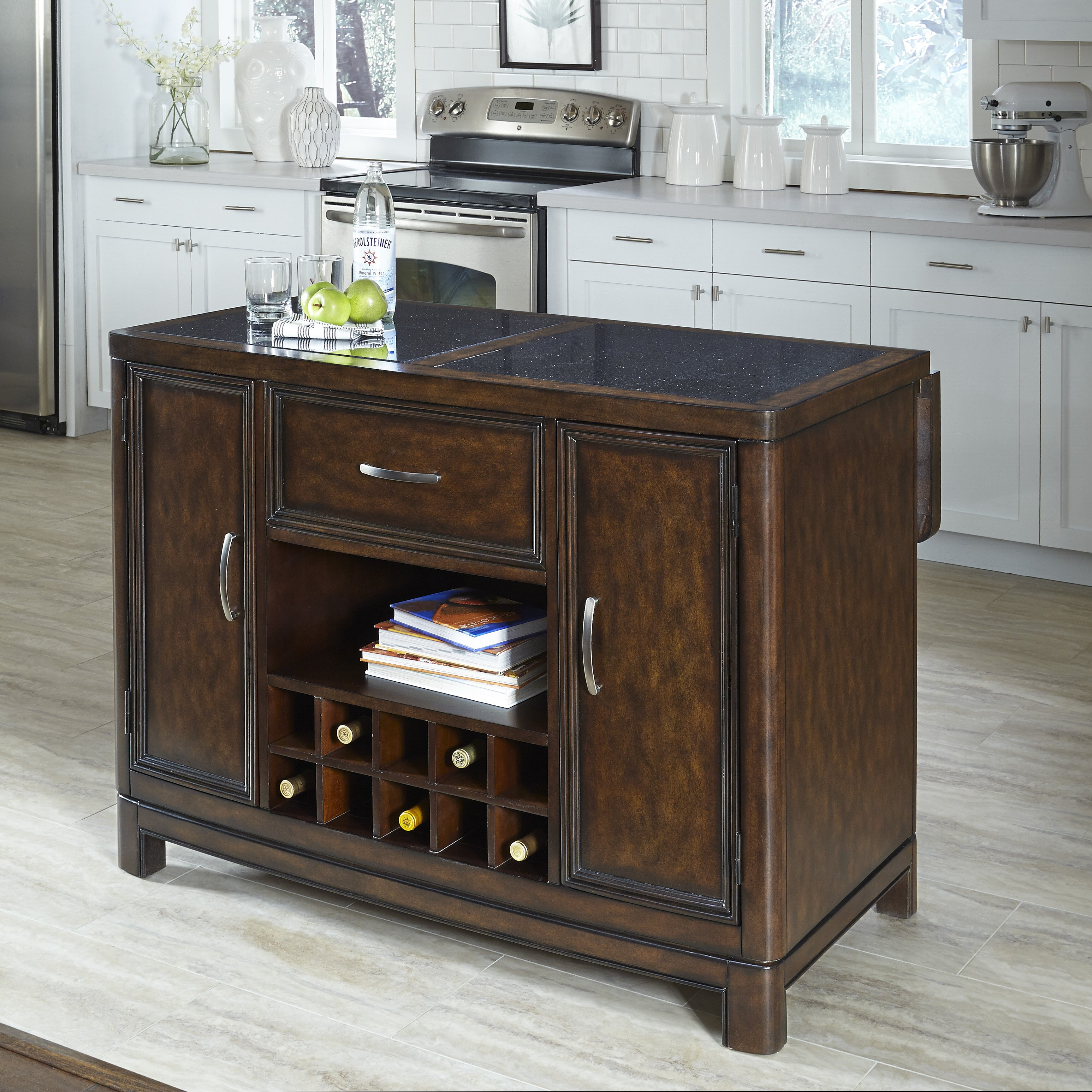 Home Styles Kitchen Island: Home Styles Crescent Hill Kitchen Island With Granite Top
