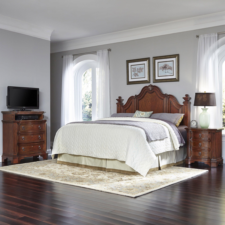 santiago panel 3 piece bedroom set  wayfair