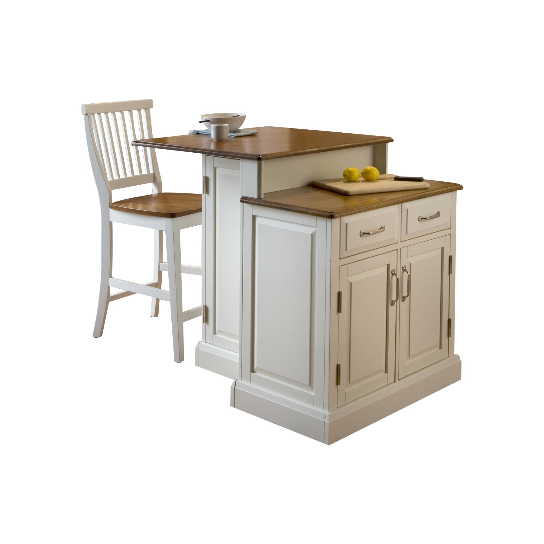 home styles woodbridge 3 piece kitchen island set
