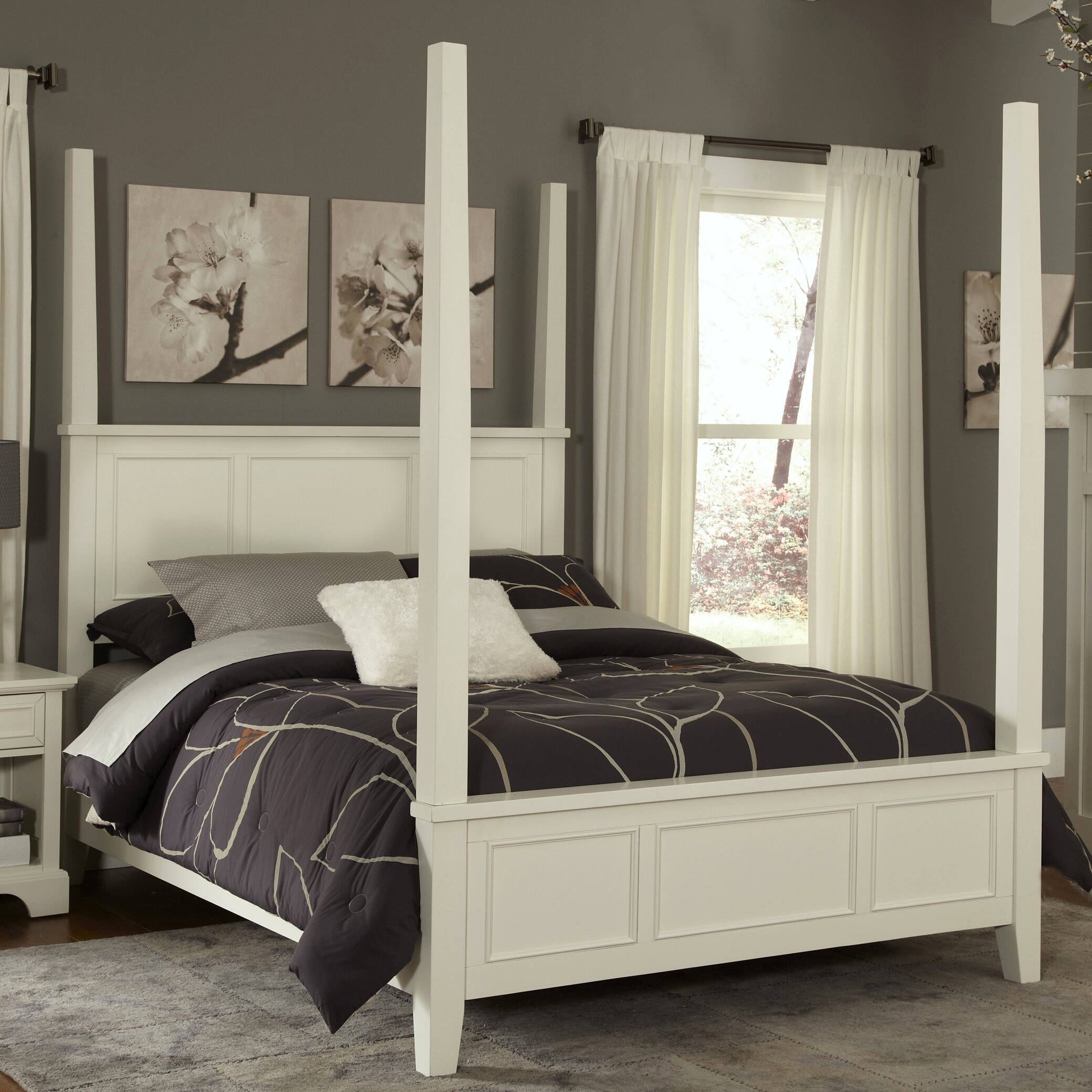 Home Styles Naples Four Poster Bed & Reviews