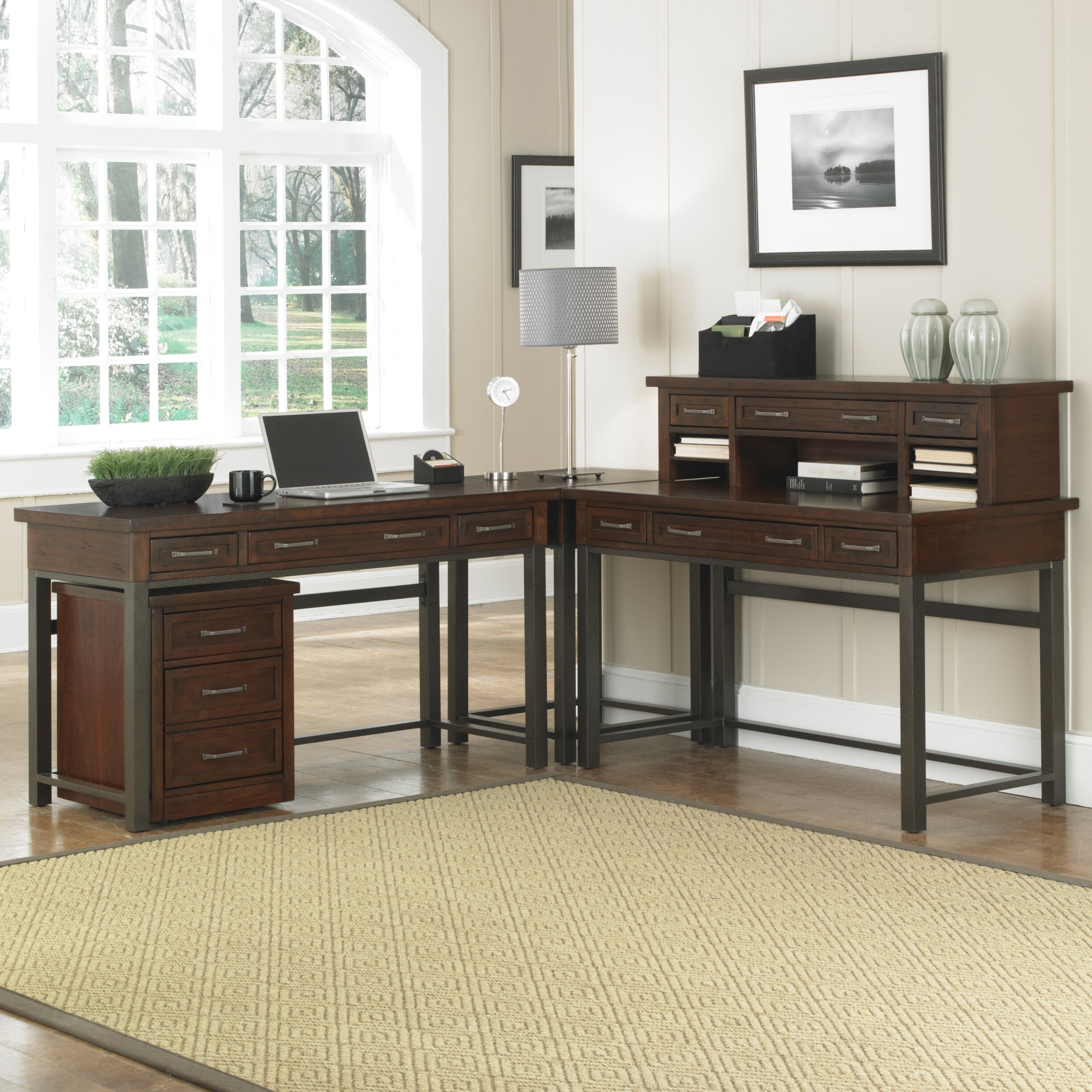 Home Styles Cabin Creek Computer Desk With Keyboard Tray