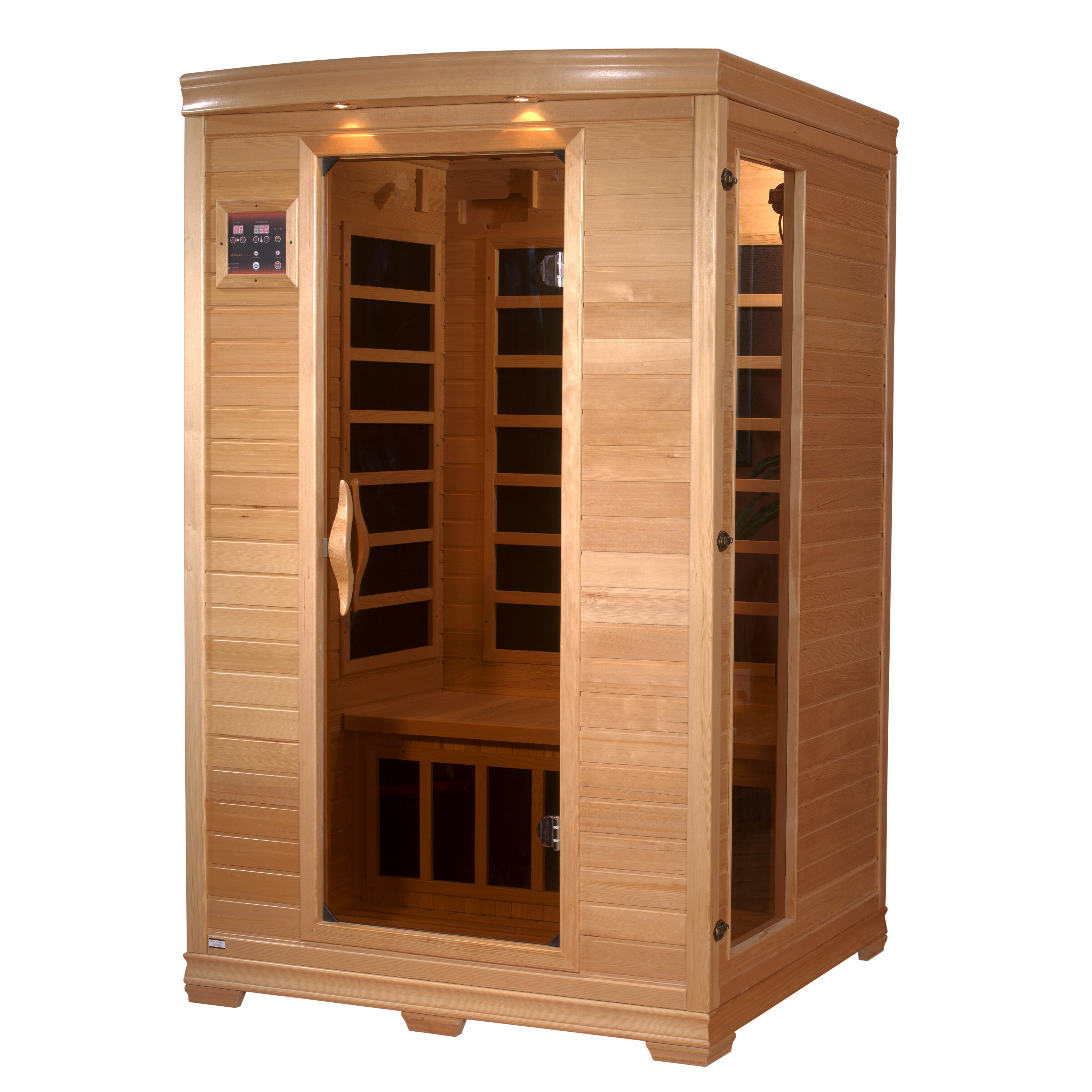 Dynamic Infrared Luxury 2 Person Carbon FAR Infrared Sauna & Reviews ...