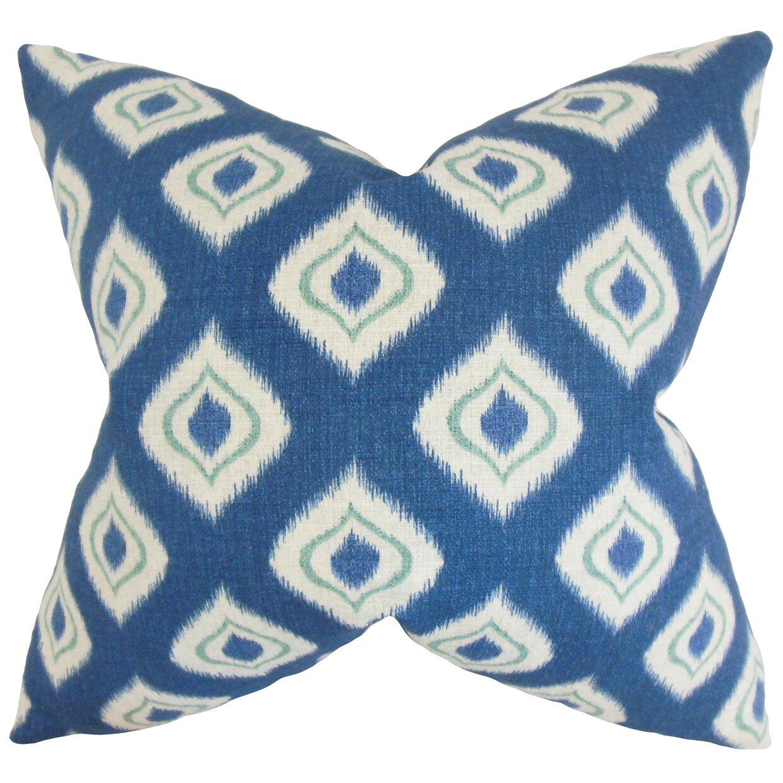 Dai Ikat Cotton Throw Pillow Wayfair