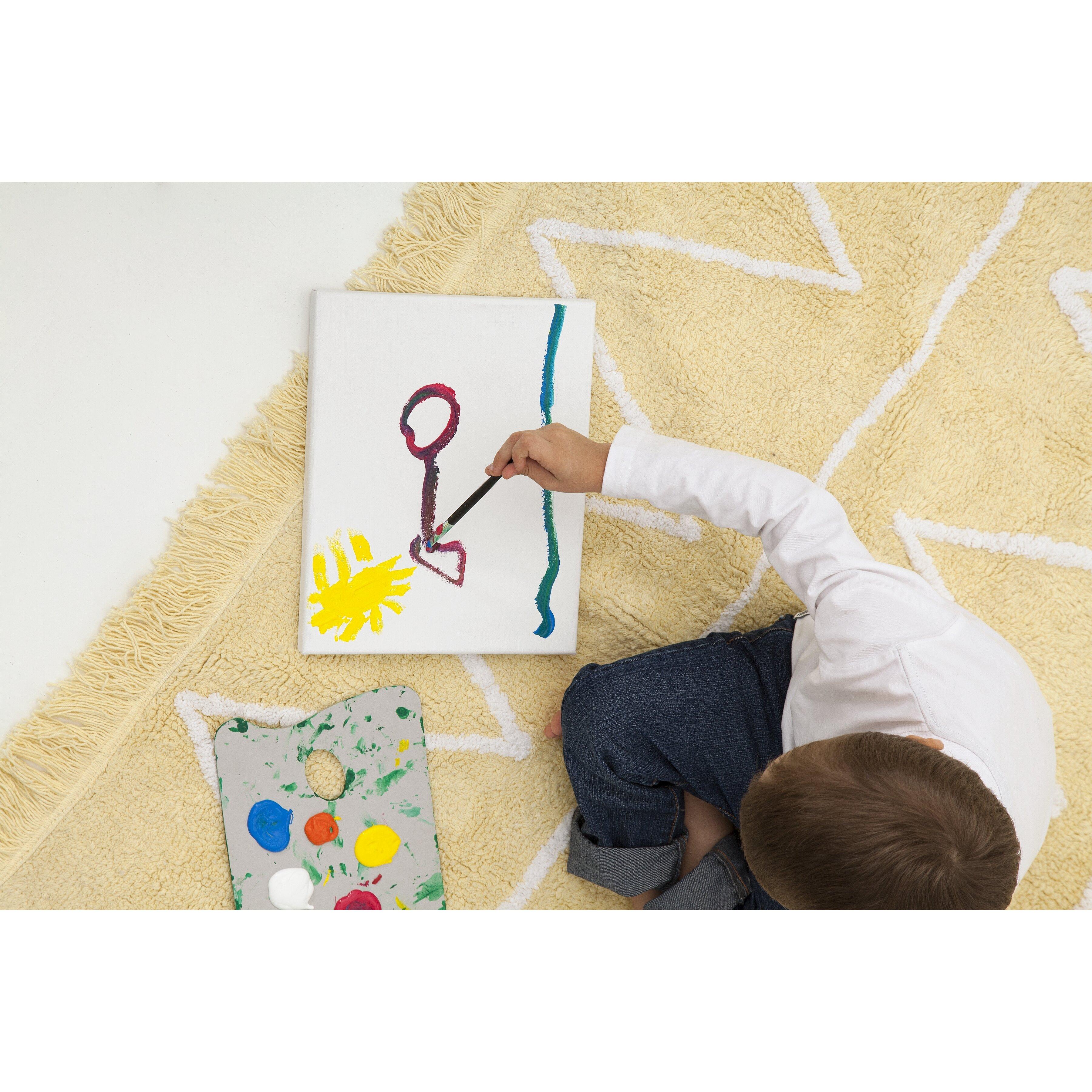 Handgetufteter Teppich Hippy in Gelb von Lorena Canals