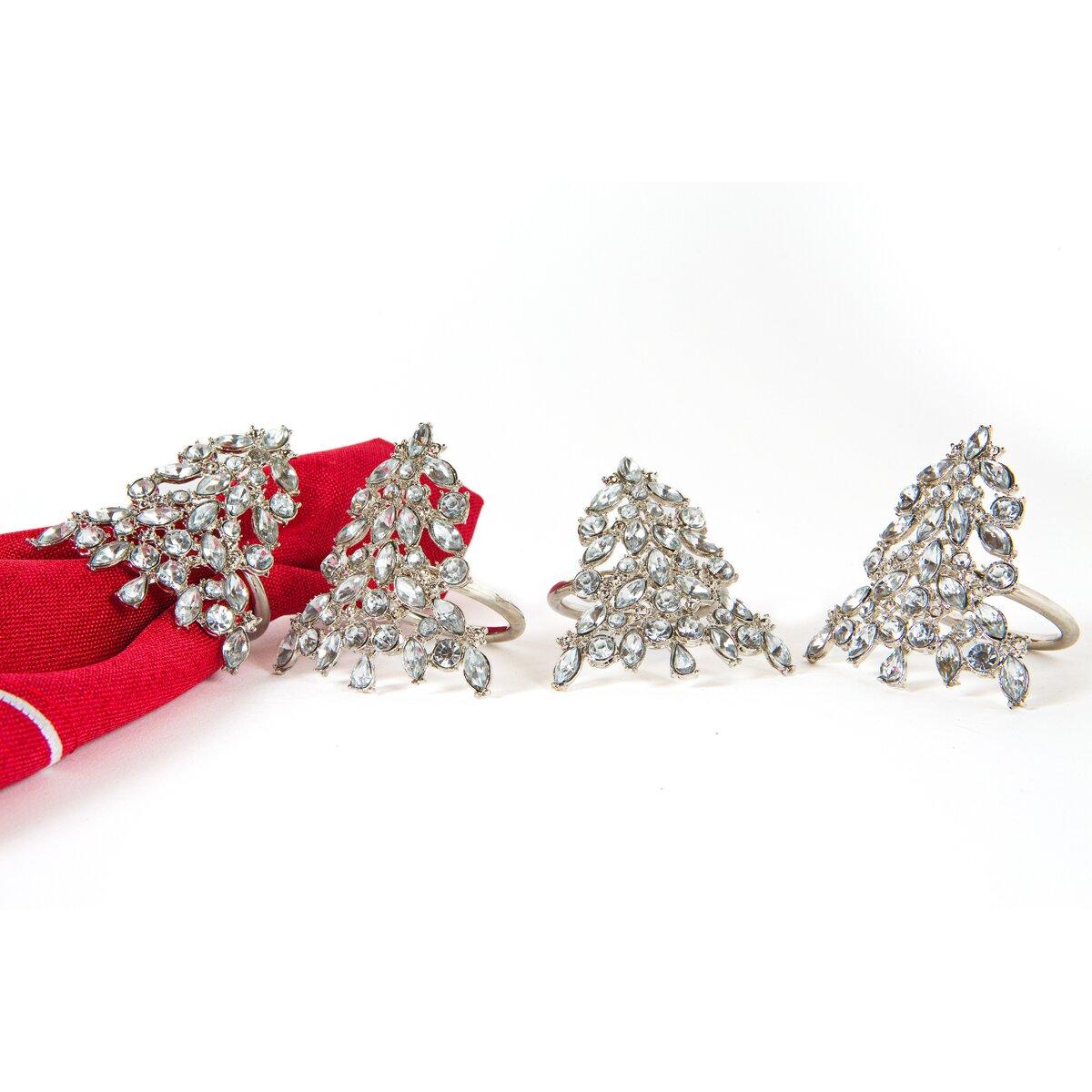 Shimmer Holiday Christmas Tree Jeweled Napkin Ring Wayfair