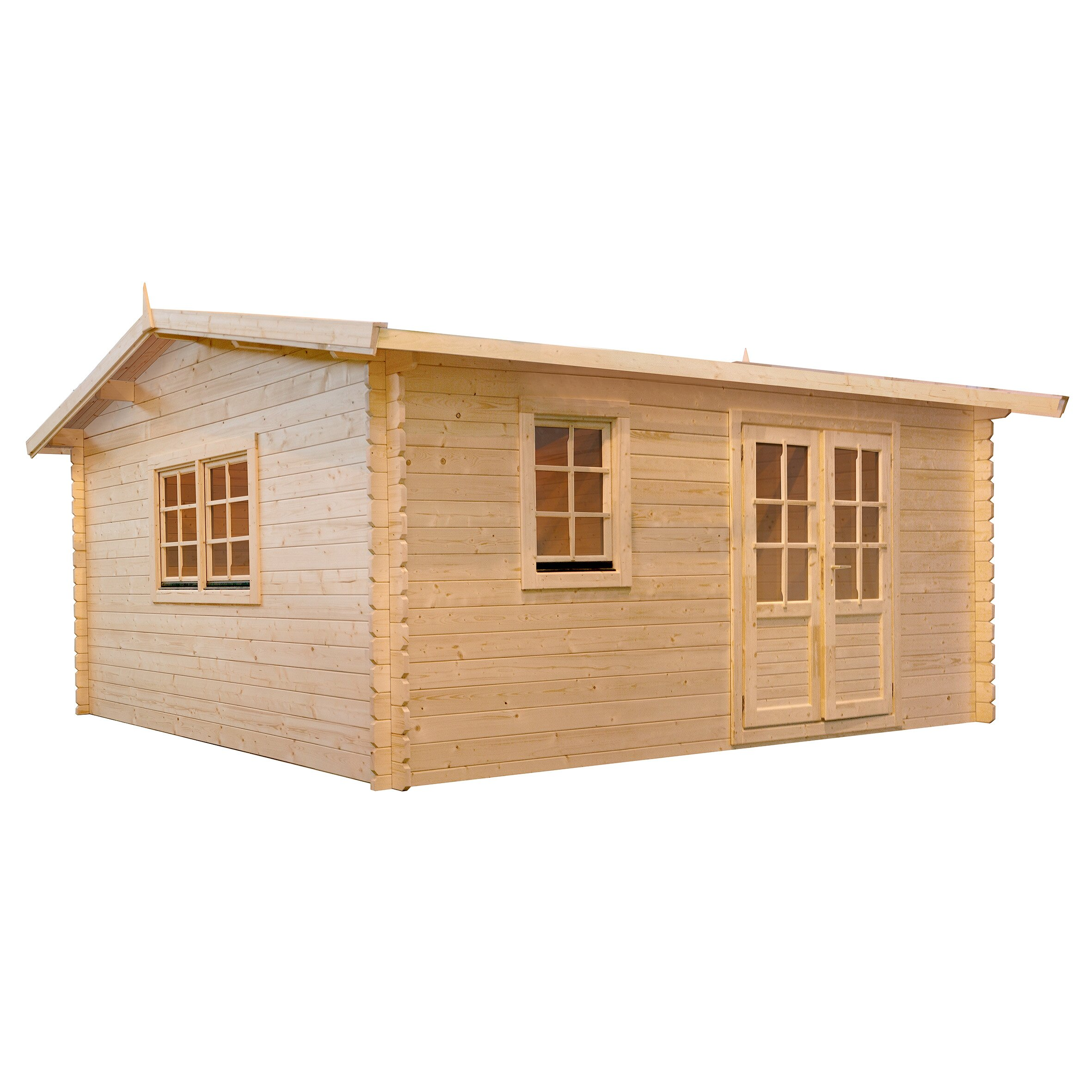 Aspen 12 ft w x 10 ft d solid wood garden shed wayfair for Garden shed 9 x 5