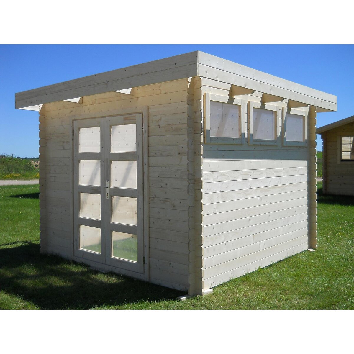 Moderna 10 ft w x 10 ft d solid wood garden shed for Garden shed 9 x 5