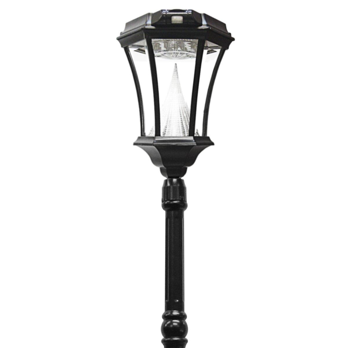 Amazon Com Gama Sonic Windsor Solar Outdoor Post Light: Victorian Solar Lamp Post With Motion Sensor