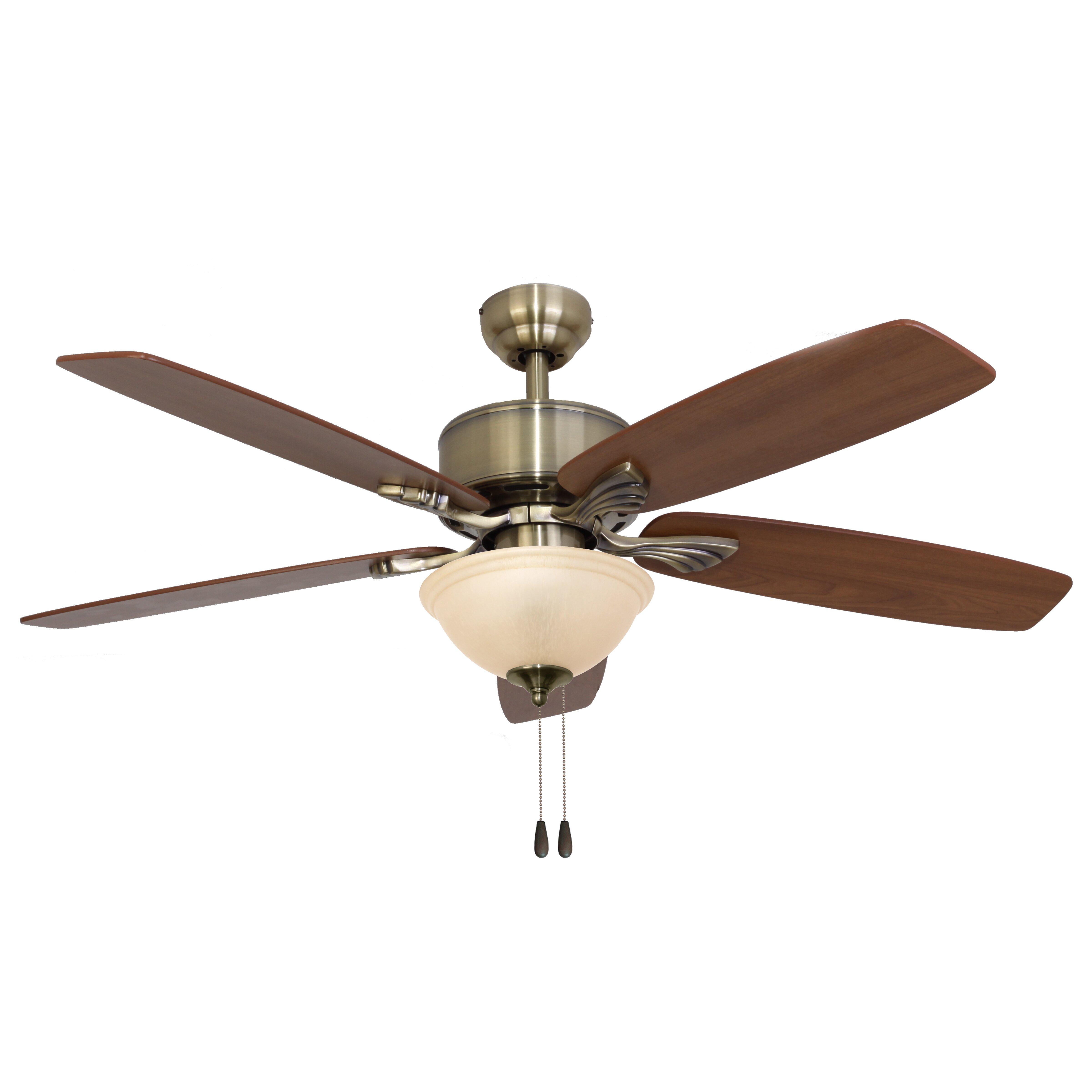 """Landscape Lighting Northbrook: 52"""" Northport Bowl Light 5 Blade Ceiling Fan"""