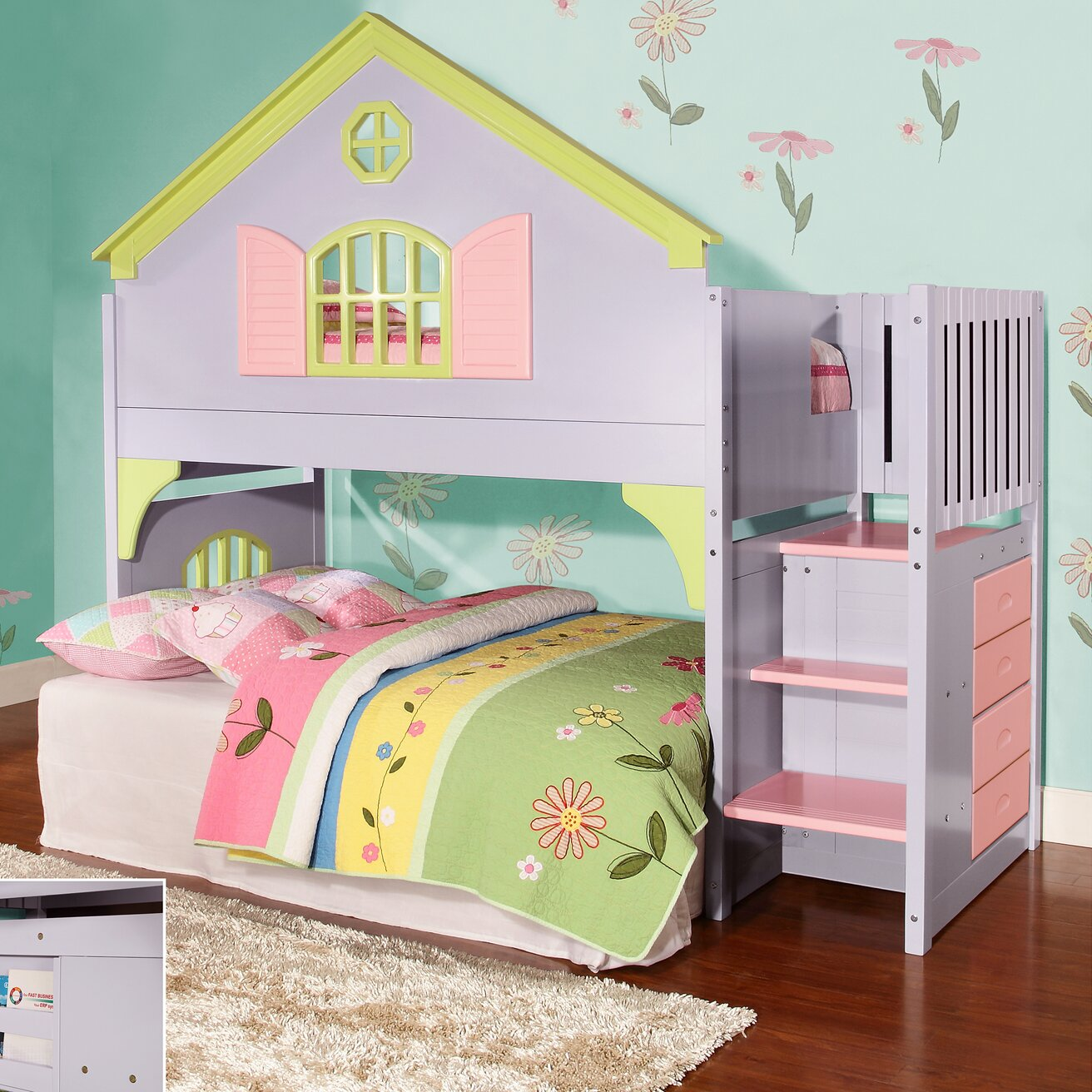 Donco Kids Doll House Twin Loft Bed amp Reviews