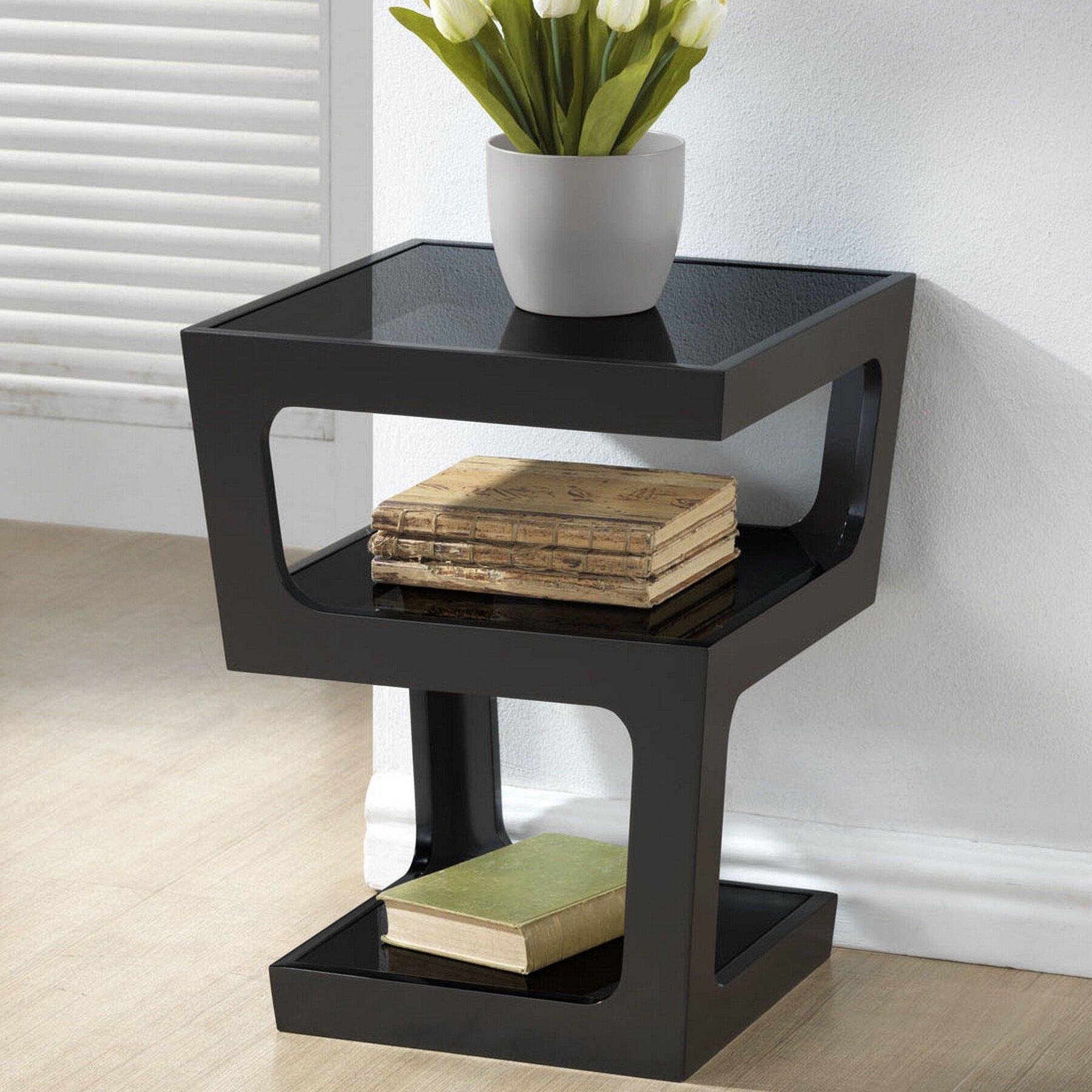 wholesale interiors baxton studio clara end table reviews wayfair
