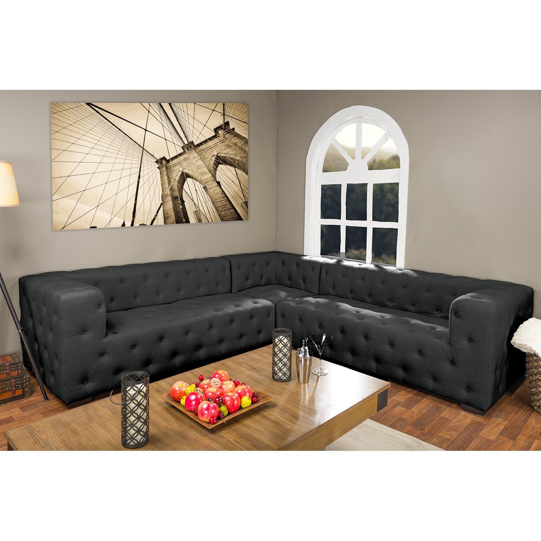 Inspirational Divani Casa Anchusa Modern Blue Fabric Sectional Sofa ...