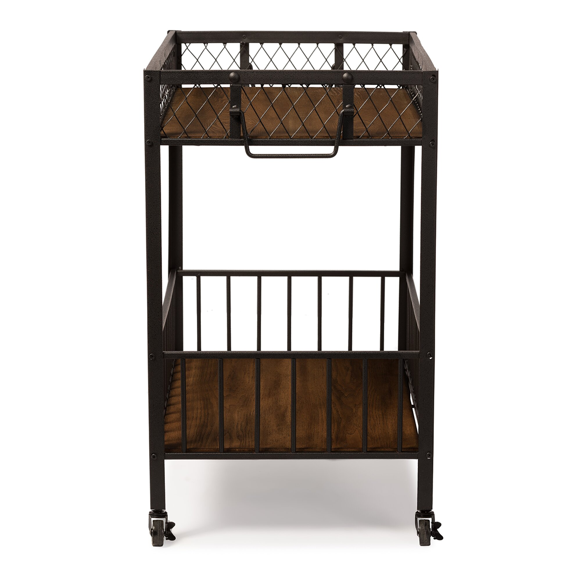 Wood And Metal Industrial Kitchen Cart: Wholesale Interiors Baxton Studio Serving Cart & Reviews