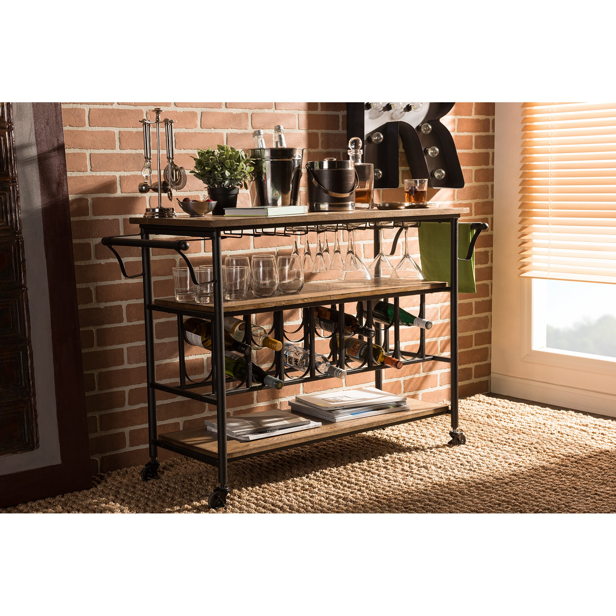 Pics Of Rustic Industrial Kitchen: Wholesale Interiors Bradford Serving Cart & Reviews