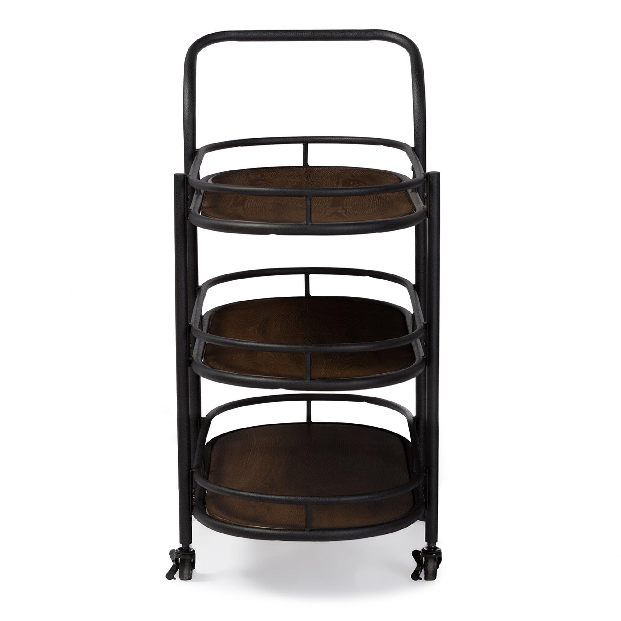 Industrial Bar Cart Bar Cart Kitchen Cart Serving Cart: Wholesale Interiors Karlin Serving Cart & Reviews