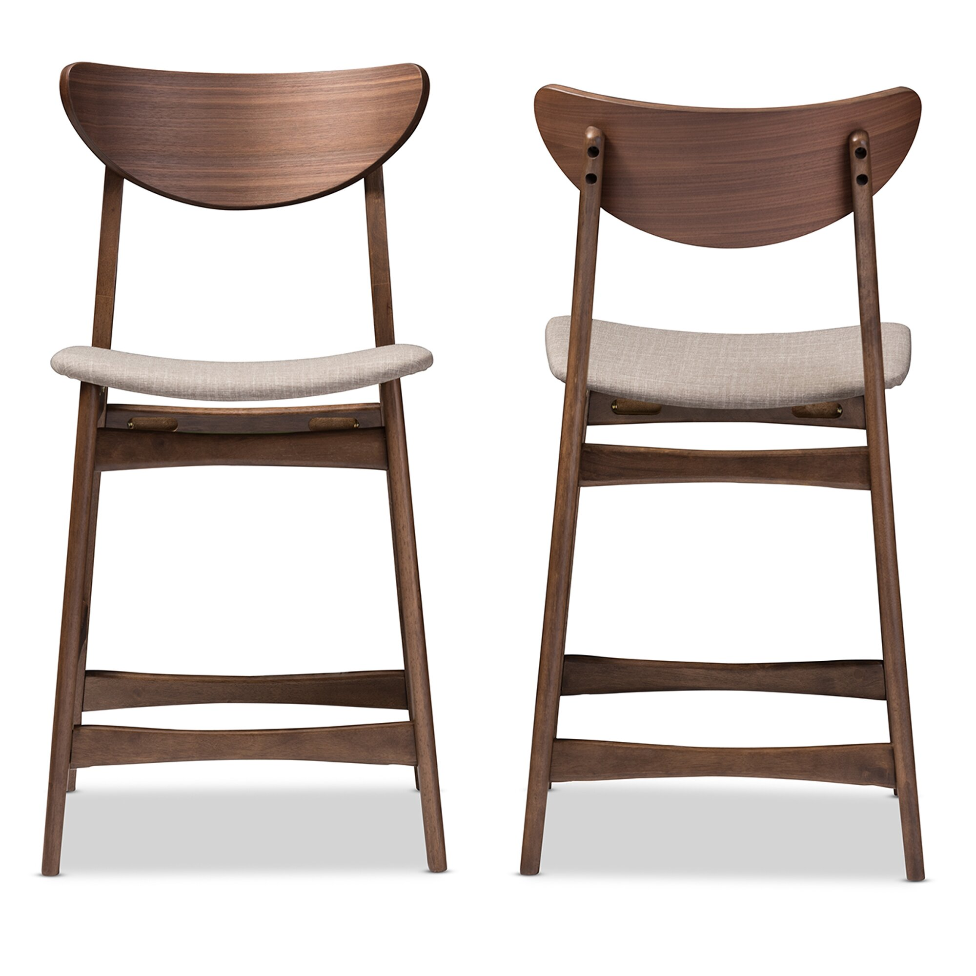 Amazing photo of  Baxton Studio Latina Bar Stool with Cushion & Reviews Wayfair with #432E23 color and 2000x2000 pixels