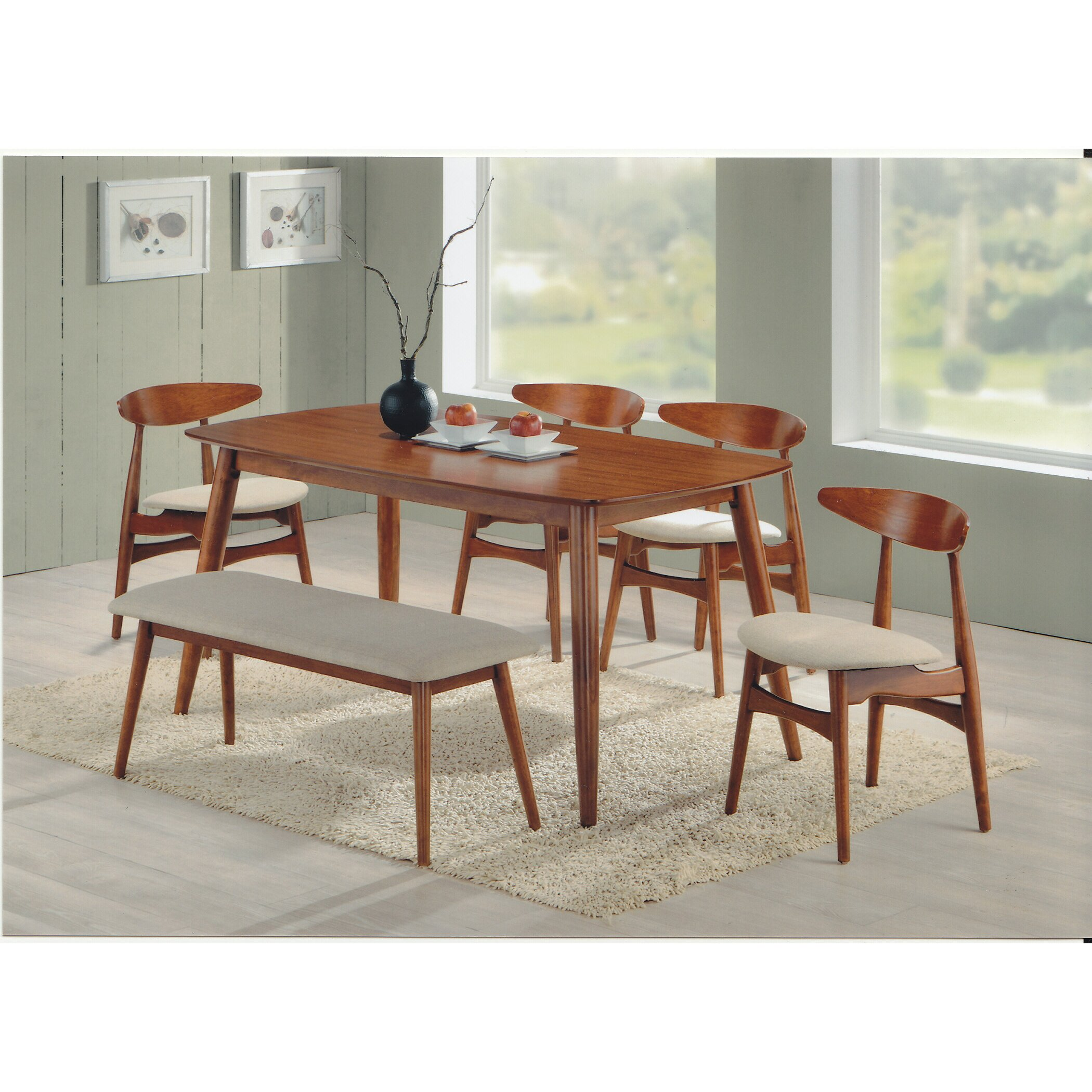 Mid Century Modern Dining: Wholesale Interiors Napoleon 6 Piece Dining Set & Reviews