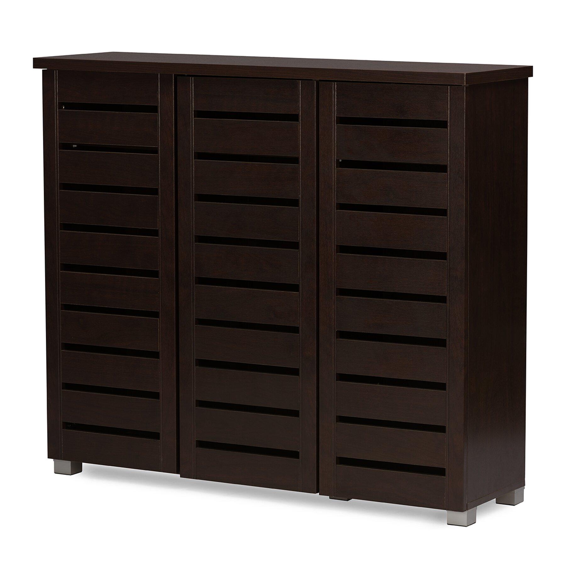 Contemporary Foyer Cabinets : Baxton studio adalwin modern and contemporary door dark