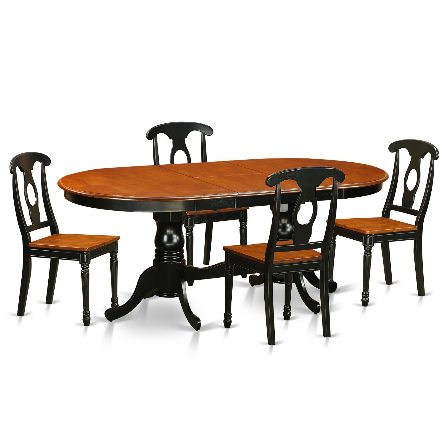 Kitchen And Dining Online ShoppingMost Effective  : 5 PC Dining Room Set Dining Table with 4 Wood Dining Chairs PLKE5 BCH from leparadisduson.com size 1500 x 1500 jpeg 145kB