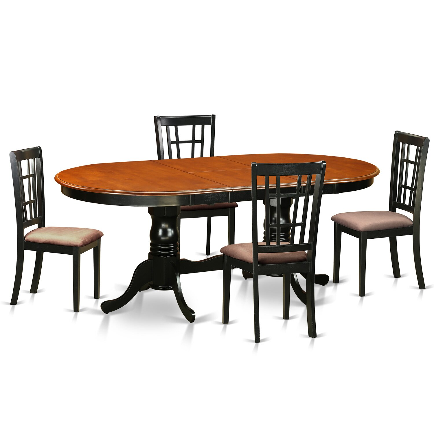 pc dining room set dining table with 4 wooden dining room chairs