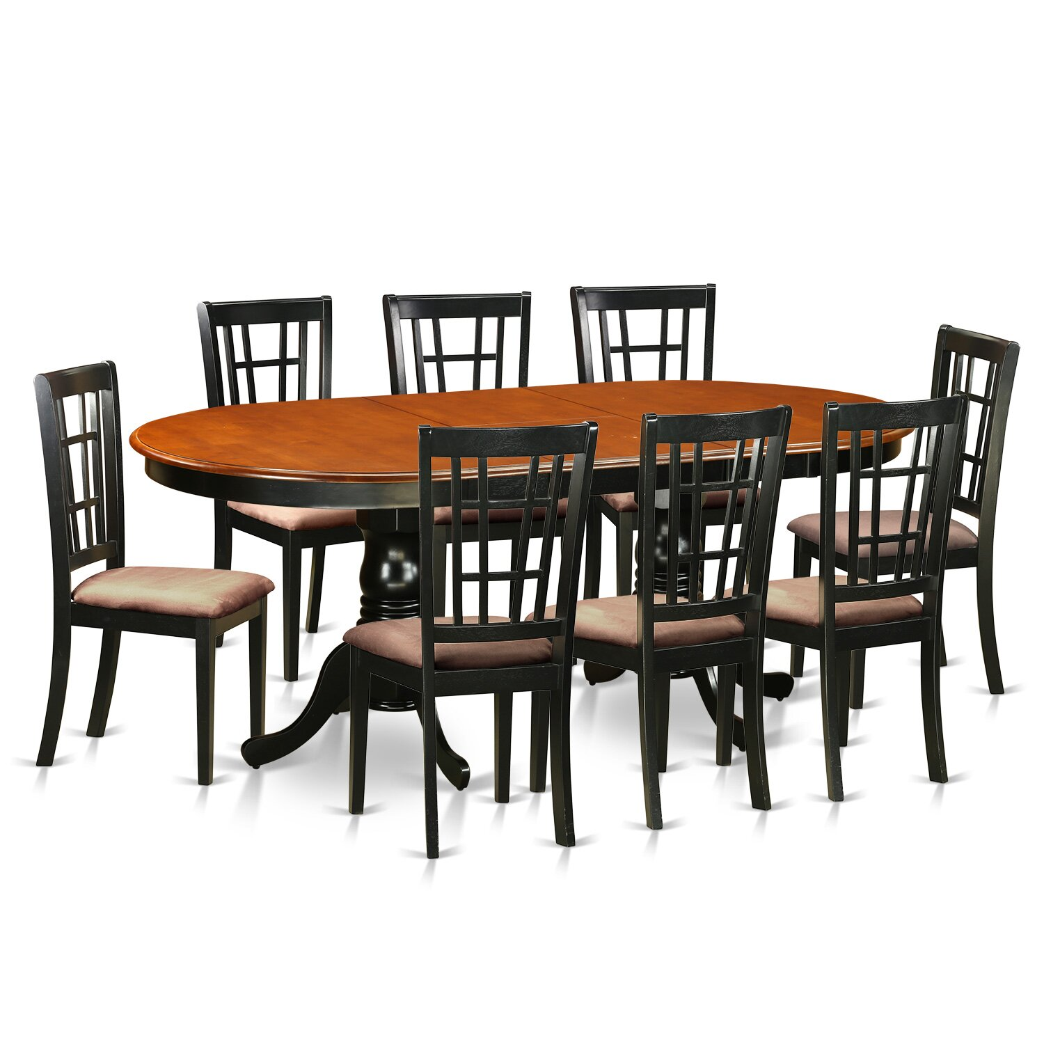 Kitchen Dining Chairs Solid Wood 8: Plainville 9 Piece Dining Set