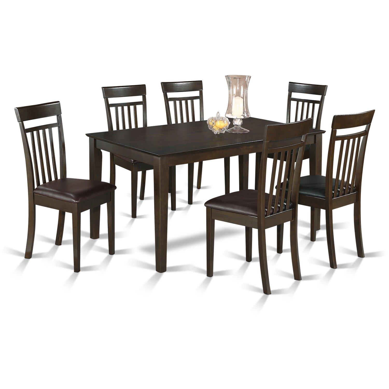 capri 7 piece dining set wayfair. Black Bedroom Furniture Sets. Home Design Ideas