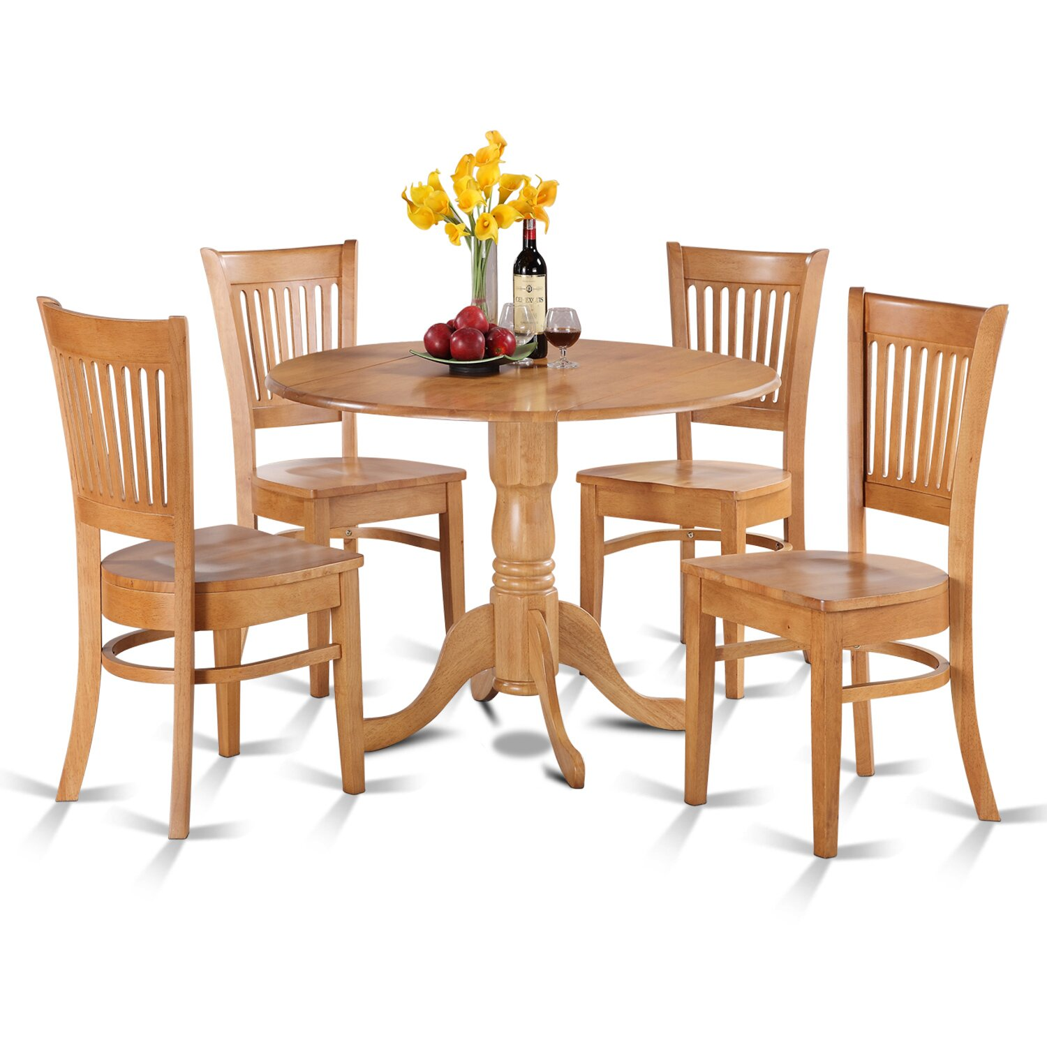 East west dublin 5 piece dining set reviews wayfair for Kitchen set new leaf