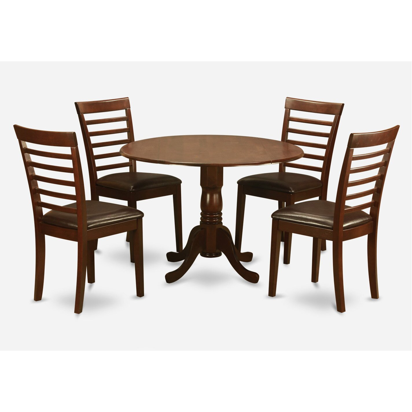 Pieces dining room setoval table with leaf with 6 dining for Two seat kitchen table