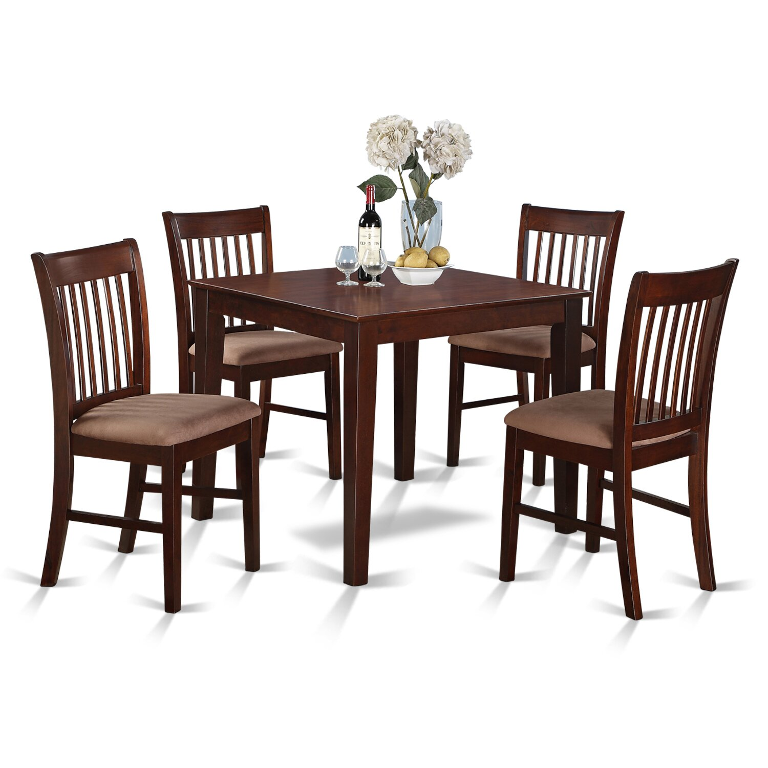 Square Kitchen Table And Chairs: East West Oxford 5 Piece Dining Set & Reviews