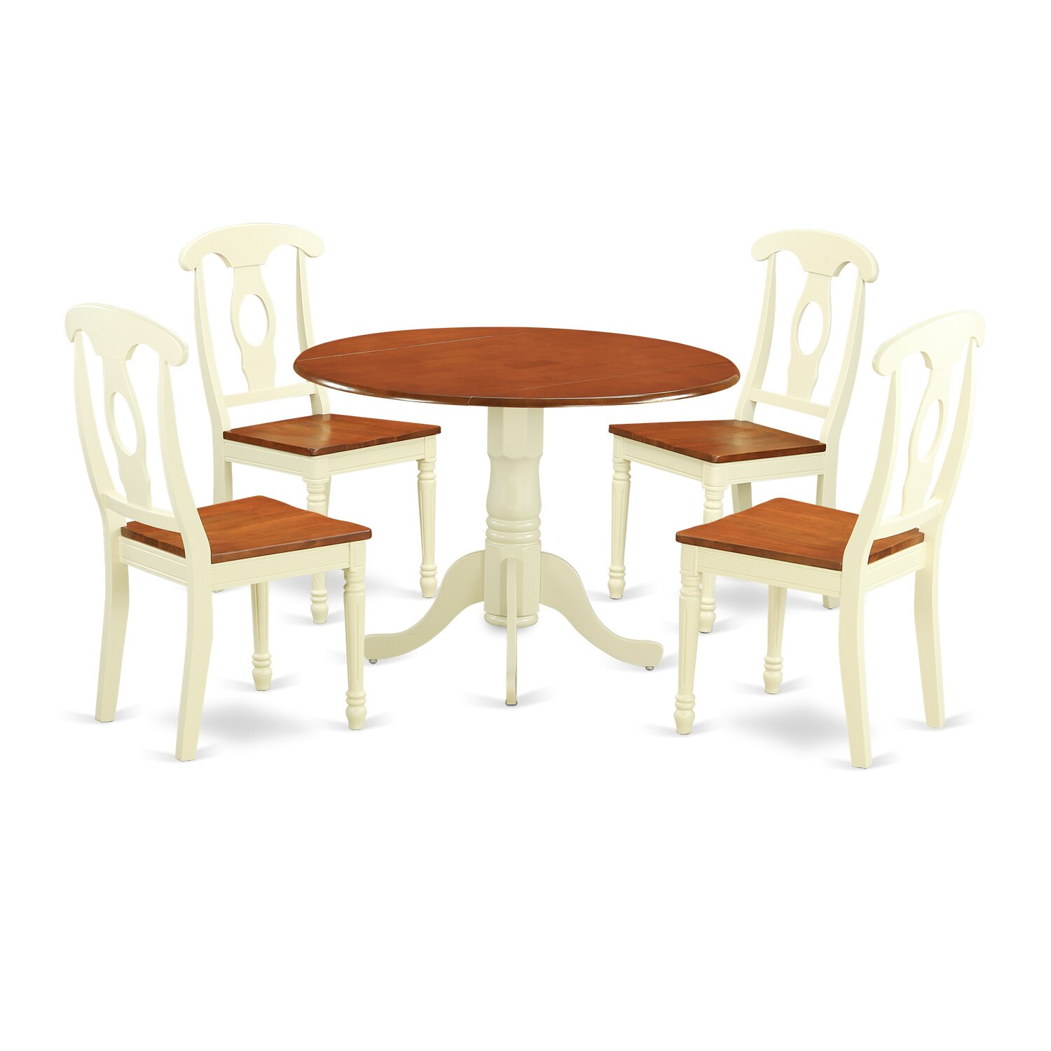 PC Dining Set Dining Table And 4 Dining Chairs DLKE5 BMK