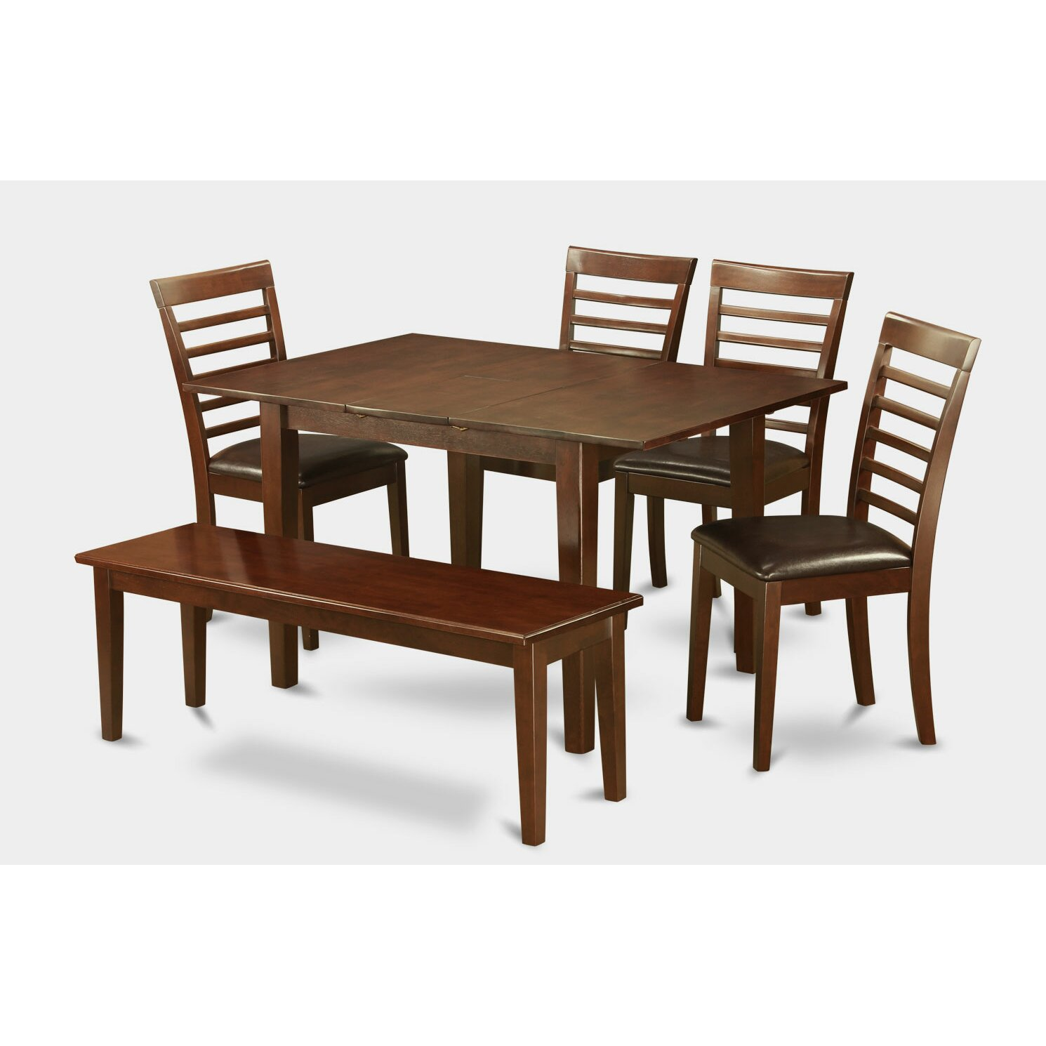 Milan 6 piece dining set wayfair for Kitchen table set 6 chairs