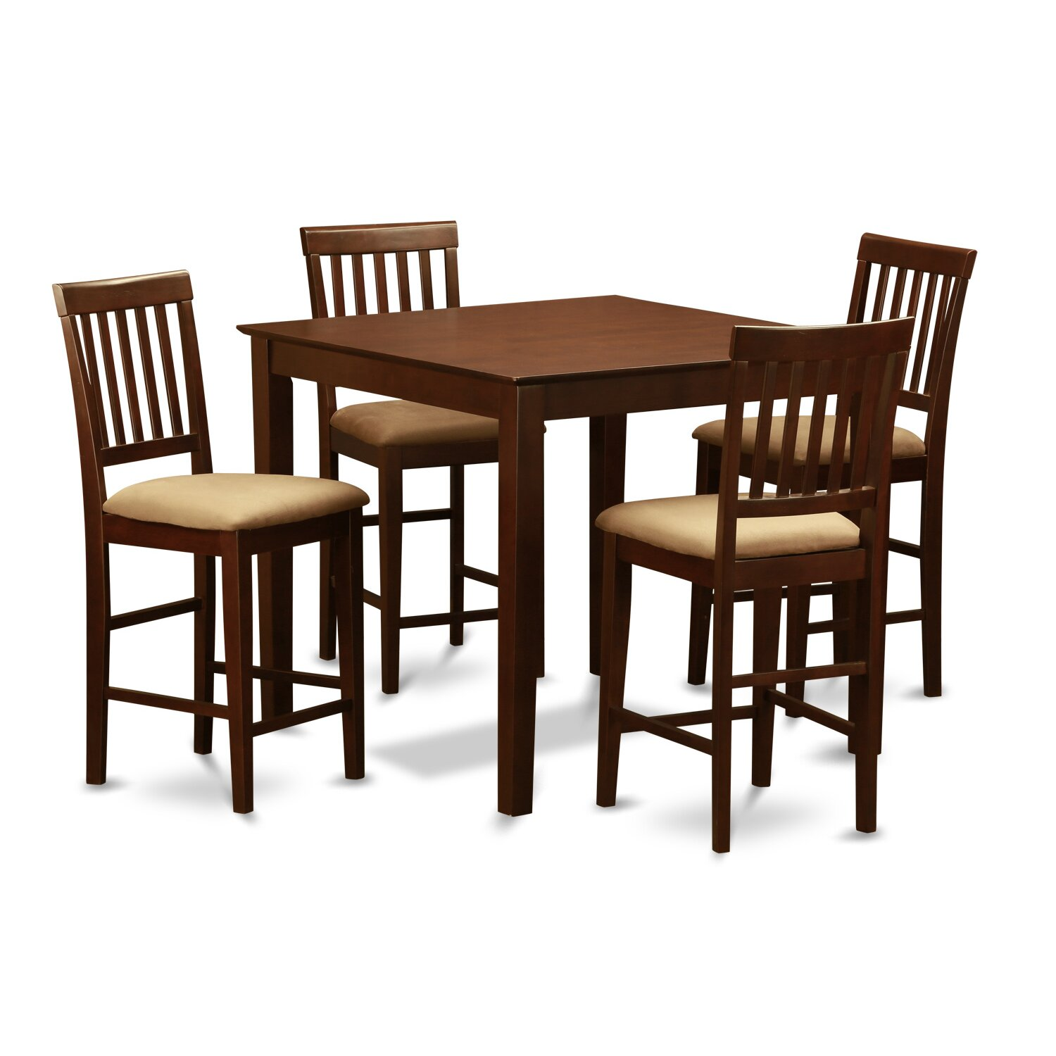 Wooden importers vernon 5 piece counter height dining set for Wooden dining set