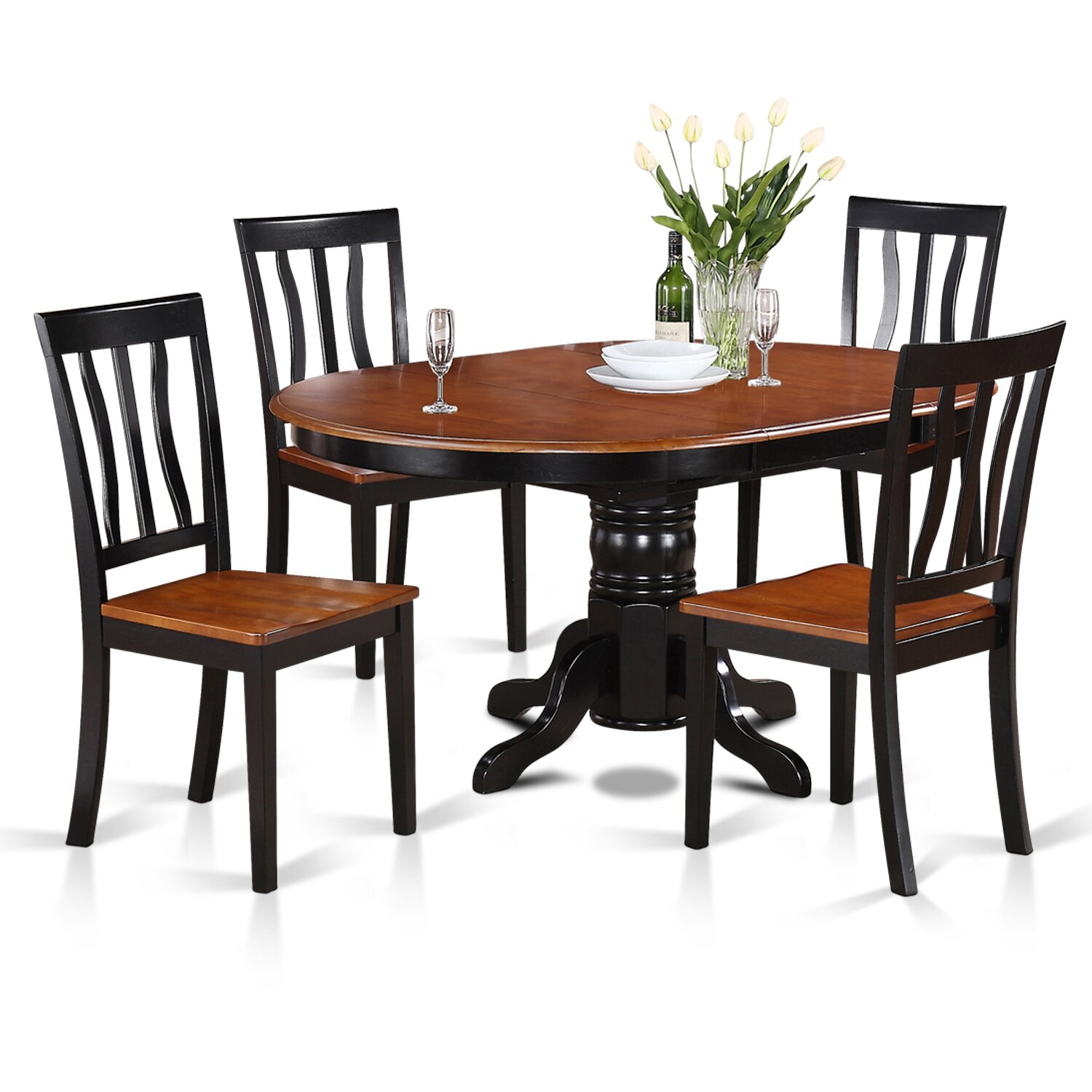 Wooden Importers 3 Piece Dining Set Reviews: Wooden Importers Easton 5 Piece Dining Set & Reviews