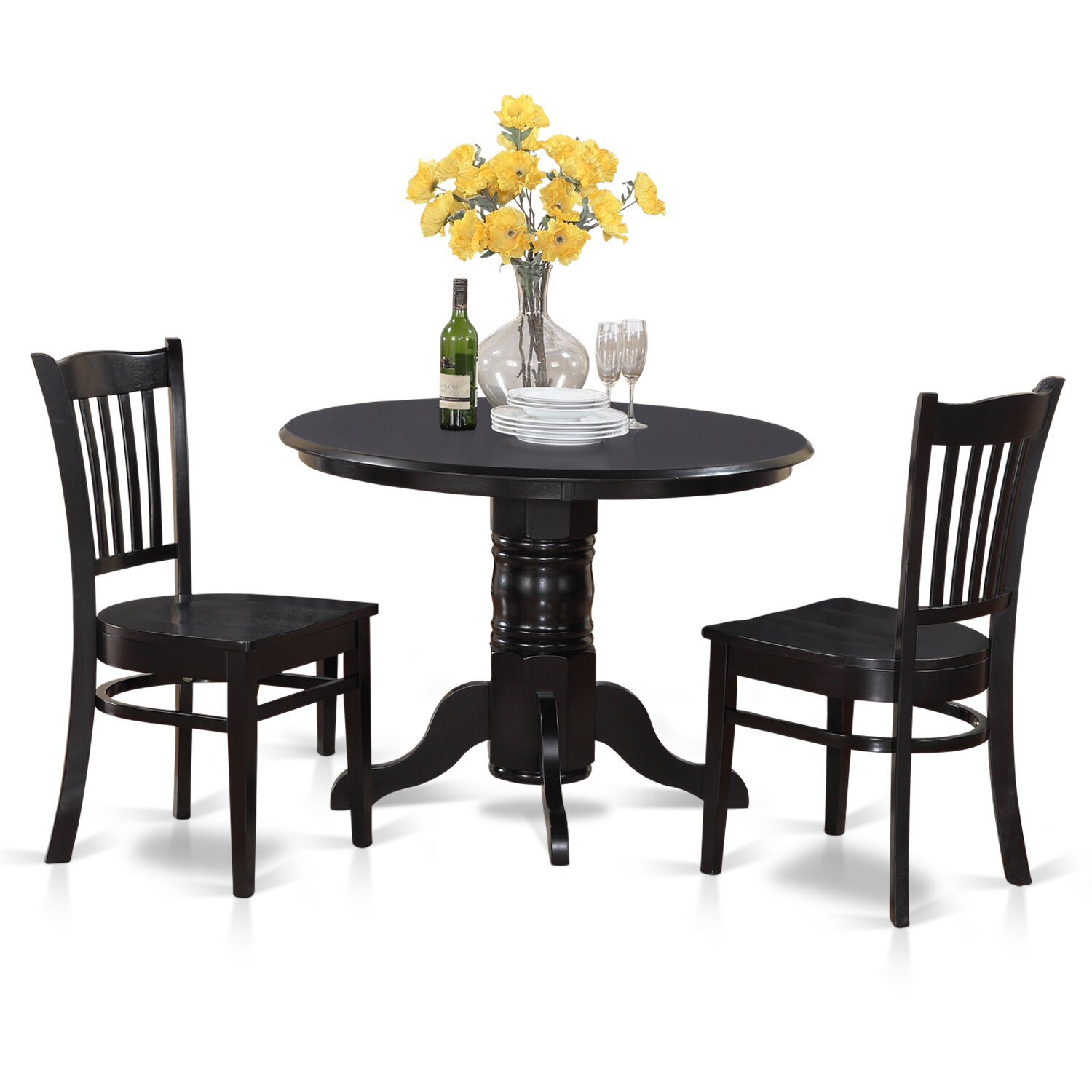 Wooden Importers 3 Piece Dining Set Reviews: Wooden Importers Shelton 3 Piece Dining Set & Reviews