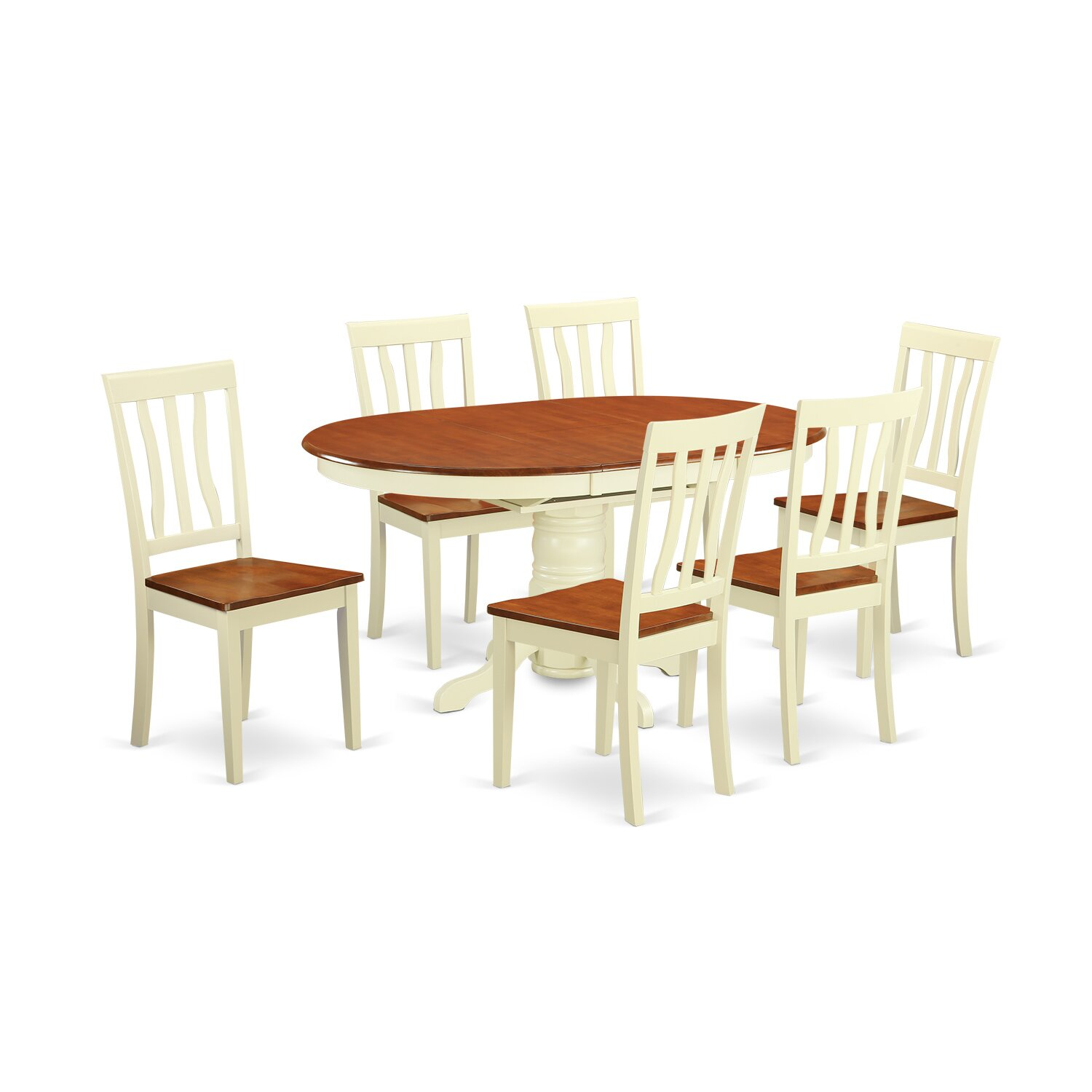 Wooden importers avon 7 piece dining set reviews wayfair for Wooden dining set