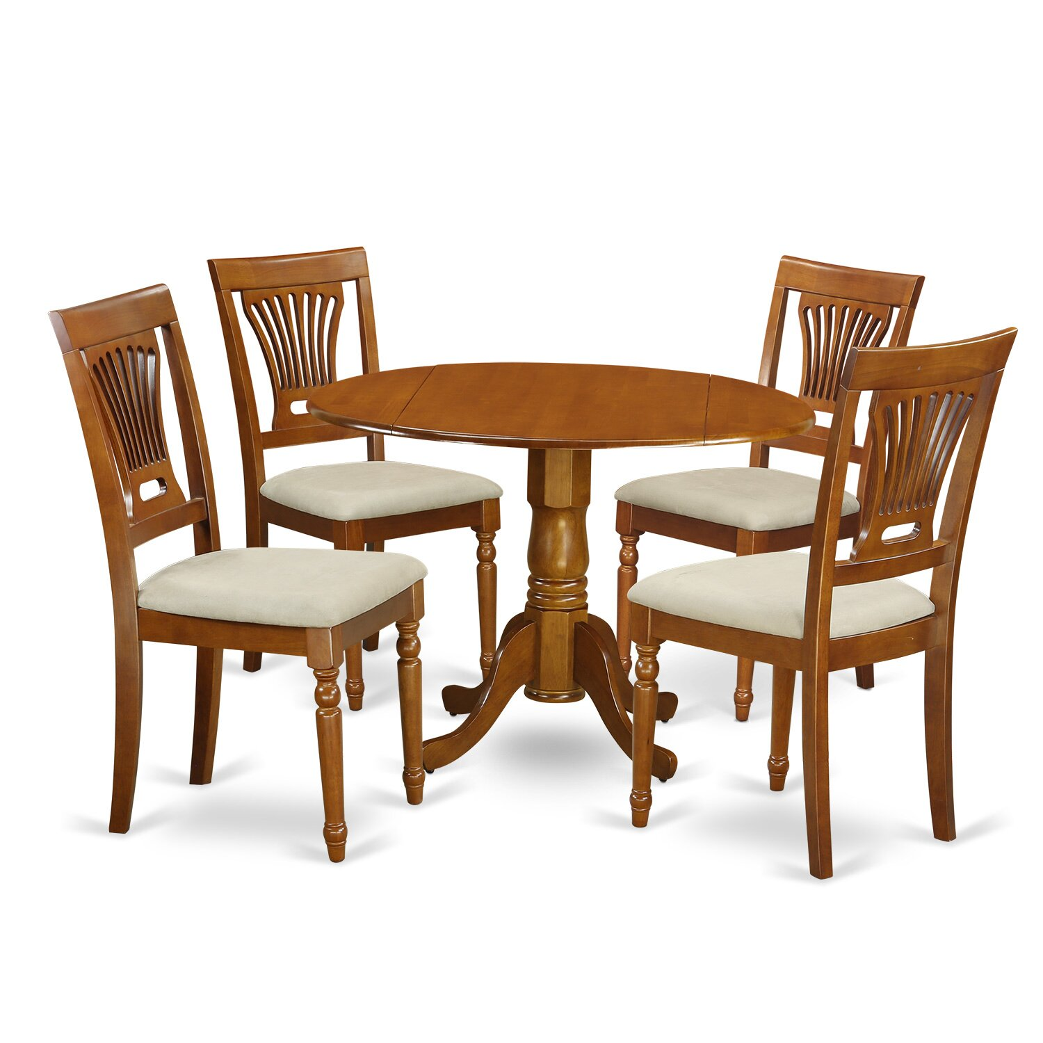 Round Dining Table Set: Wooden Importers Dublin 5 Piece Dining Set & Reviews