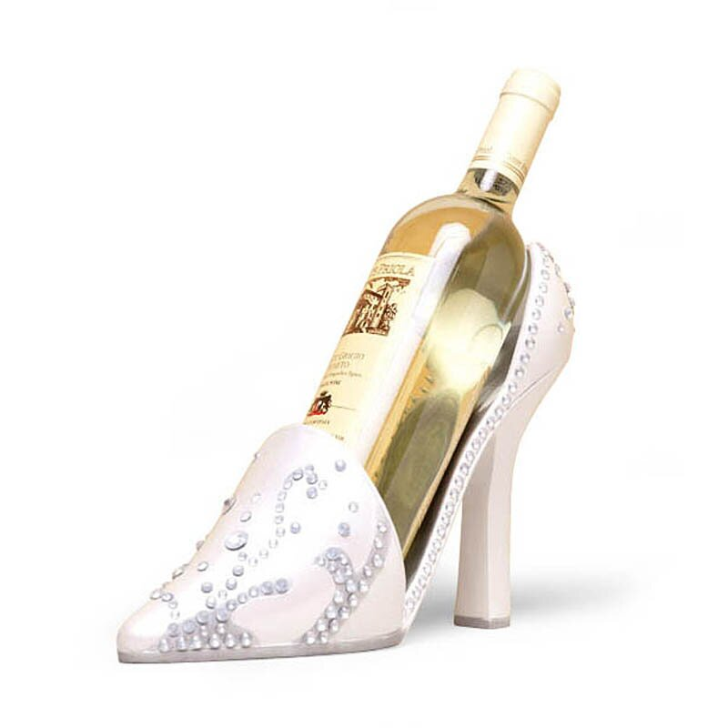 wedding high heel shoe 1 bottletabletop wine rack wayfair