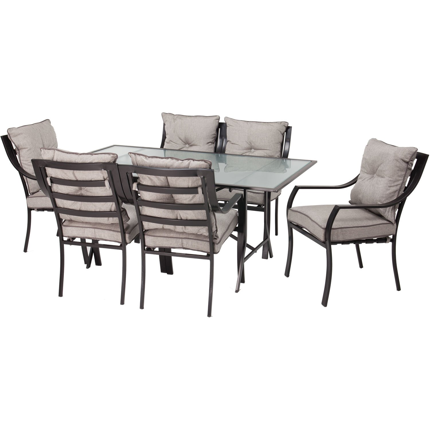 Hanover Lavallette 7 Piece Dining Set With Cushions