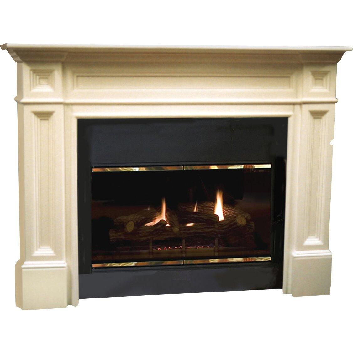 Pearl Mantels Avondale Fireplace Surround: Pearl Mantels The Classique Fireplace Mantel Surround